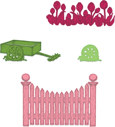 Tulip Cart & Fence Die