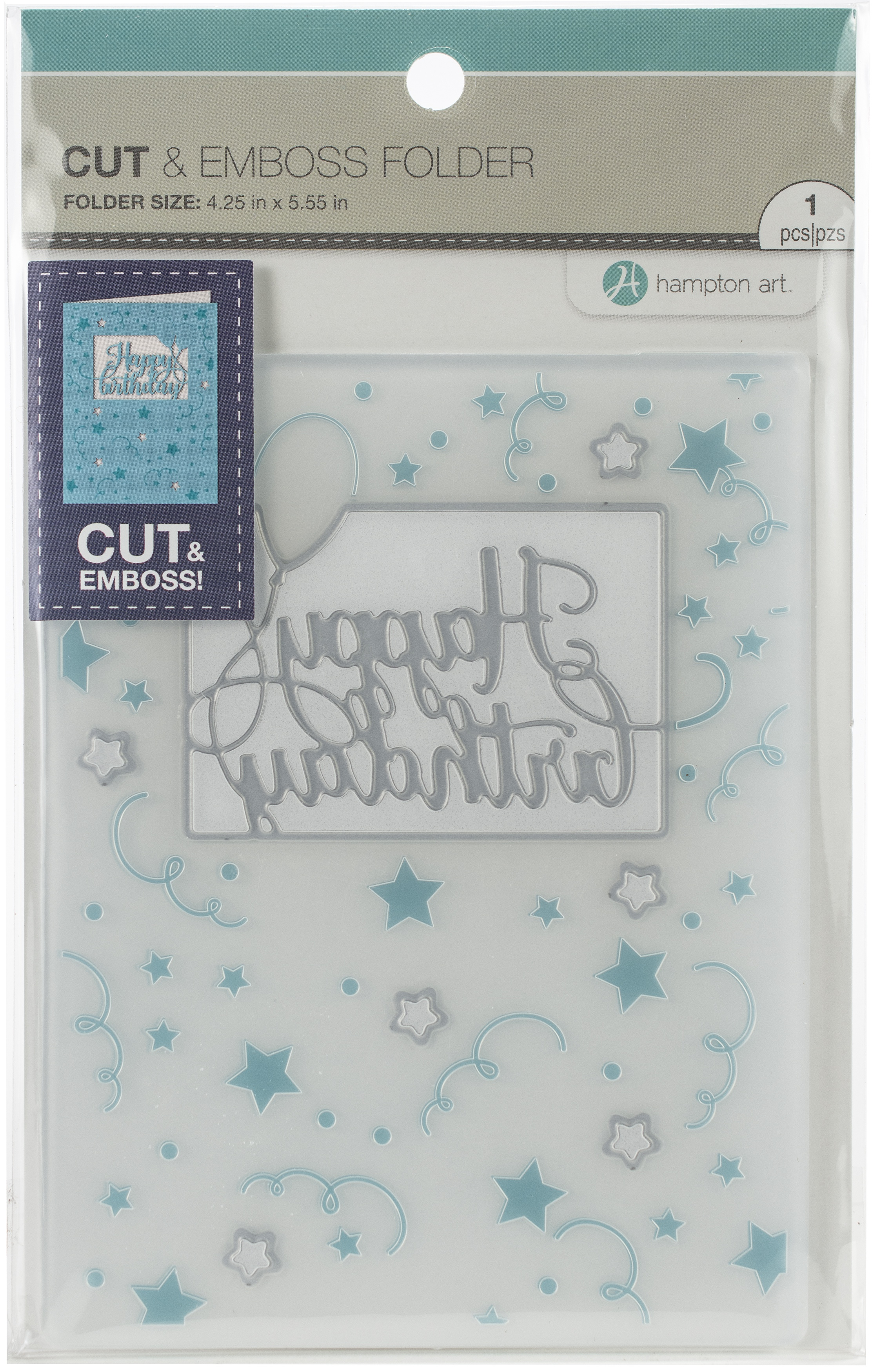 Hampton Art Cut & Emboss Folder-Happy Birthday