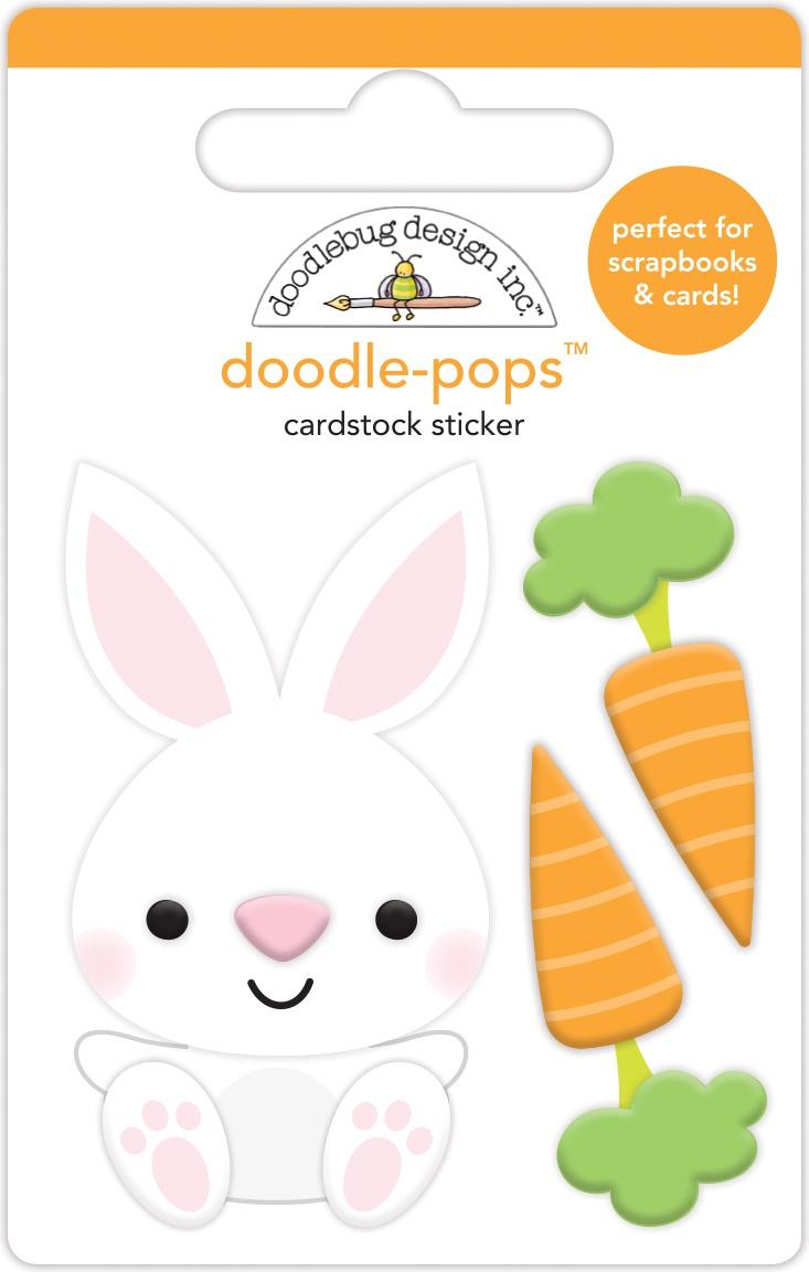 Doodlebug Doodle-Pops 3D Stickers-Baby Bunny