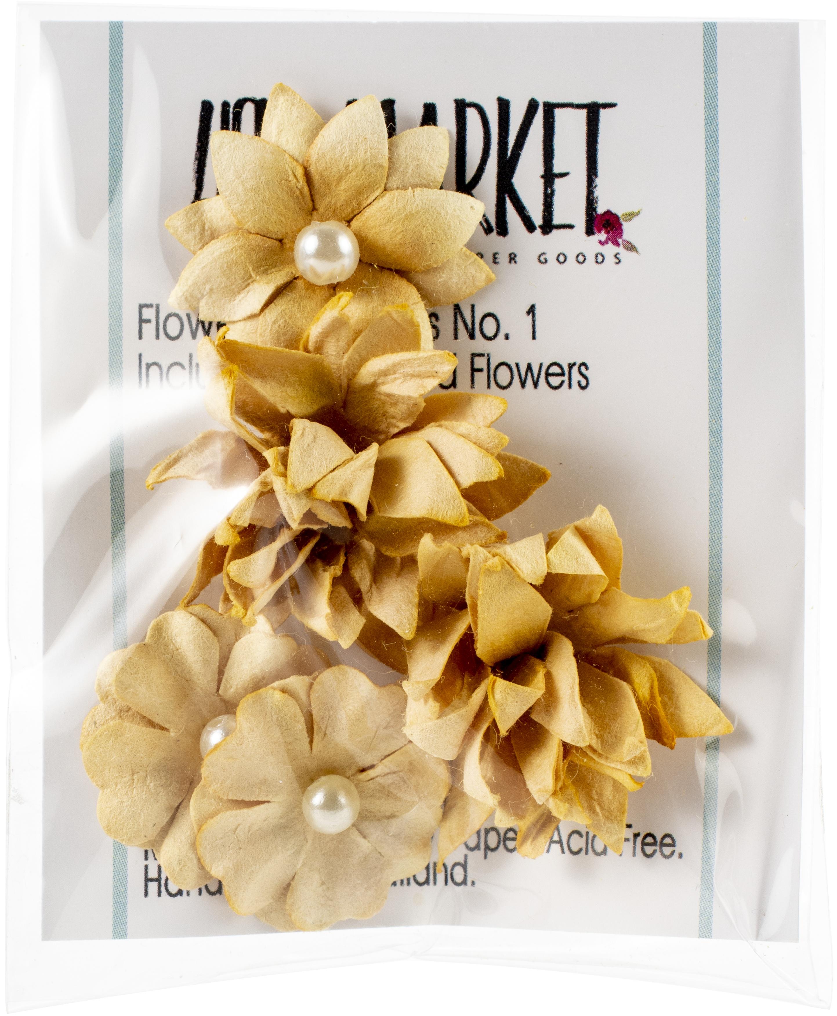 49 And Market Flower Mini Series 01 5/Pkg-Ginger