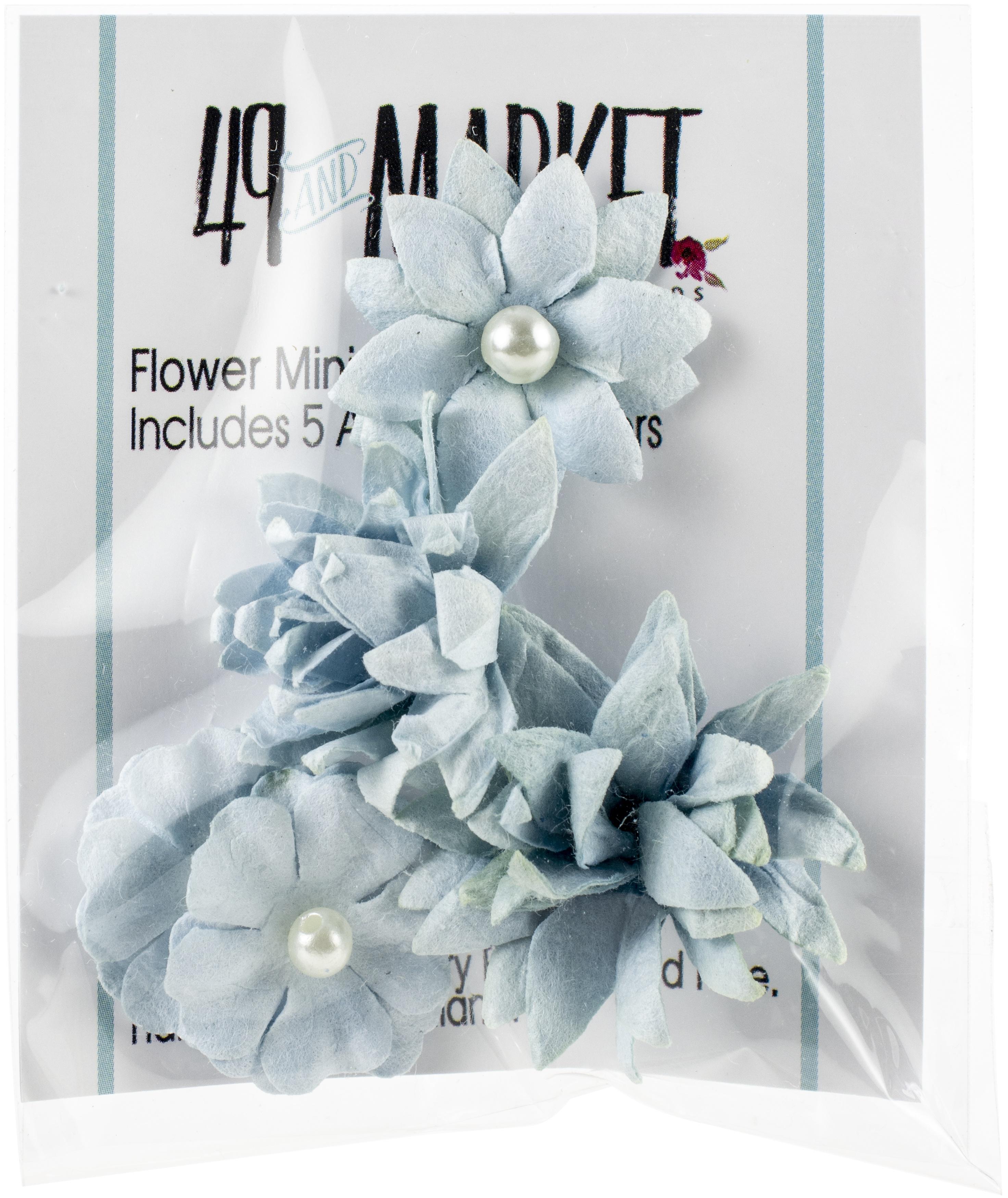 49 And Market Flower Mini Series 01 5/Pkg-Sky