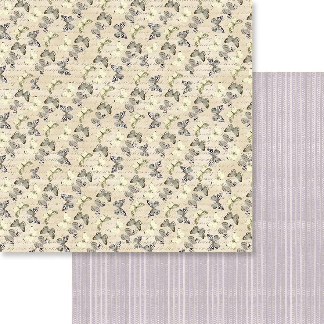 Butterfly Garden Double-Sided Paper 12X12-#8