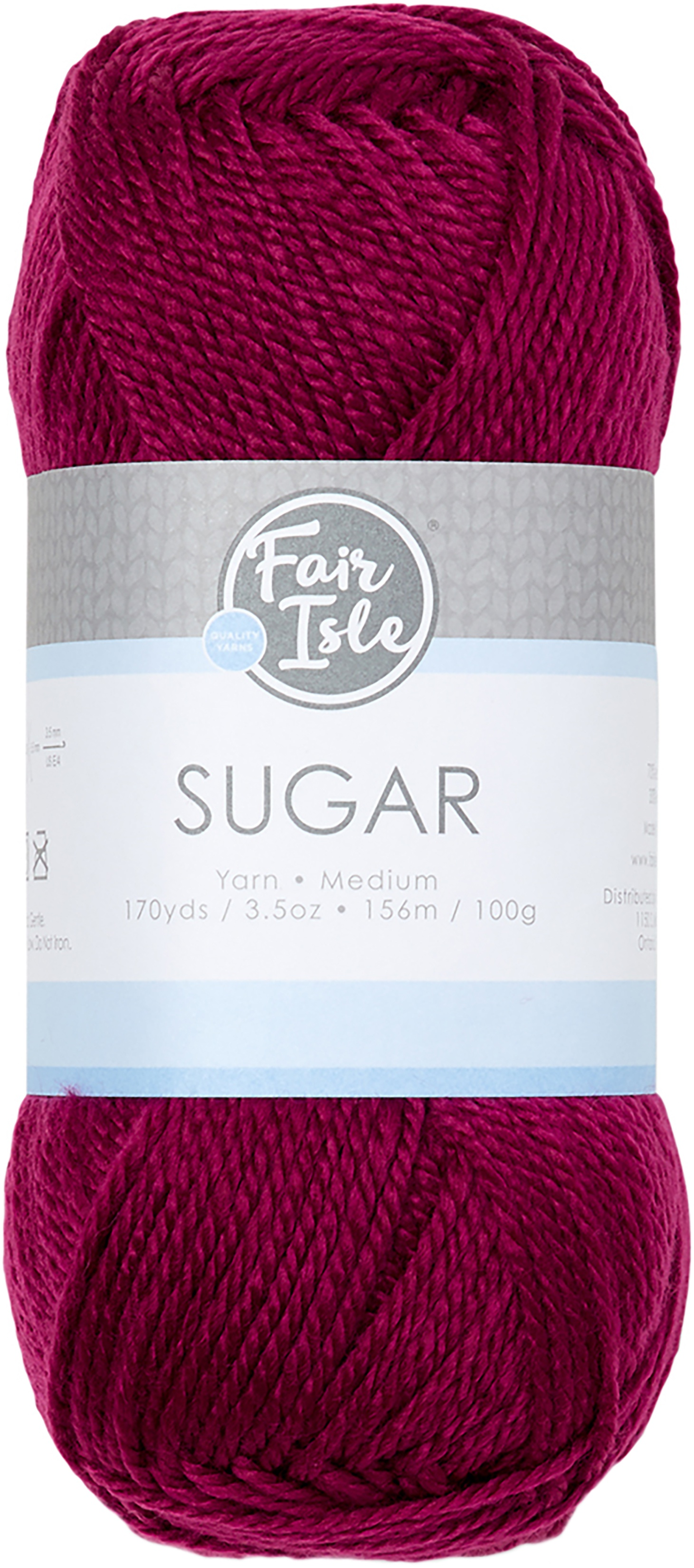 Fair Isle Sugar Yarn-Burgundy