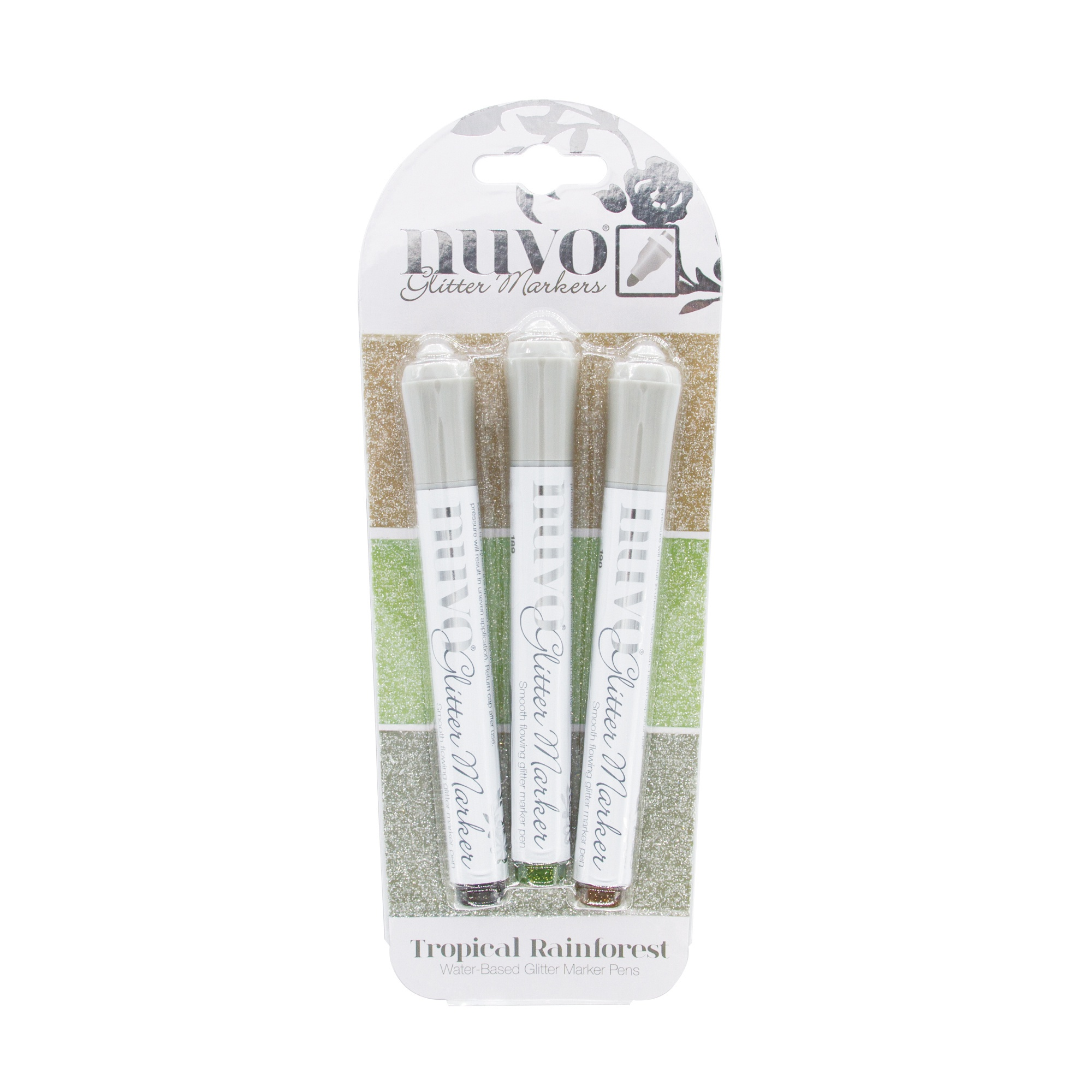 Nuvo tropical rainforest glitter markers