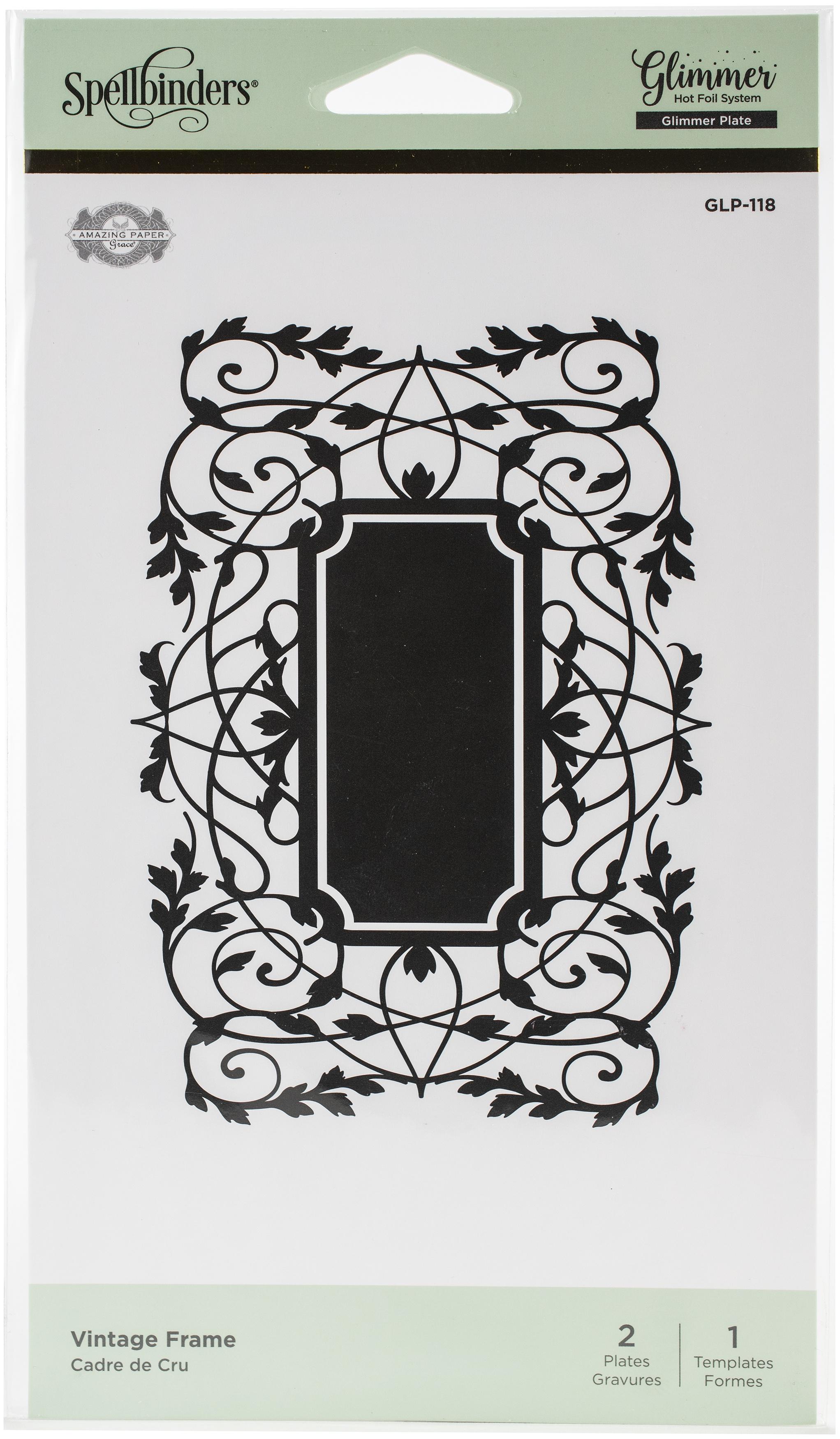 vintage frame glimmer plate