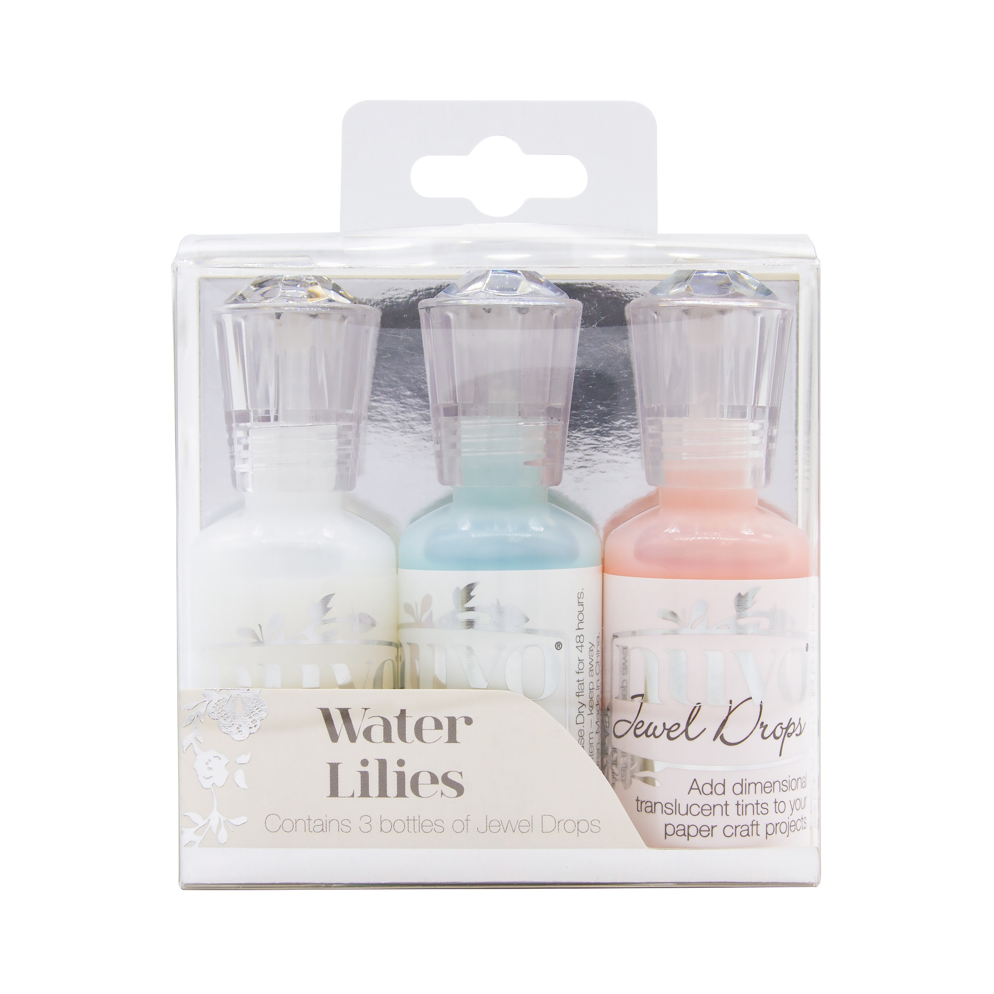 Nuvo Jewel Drops 3/Pkg-Water Lilies