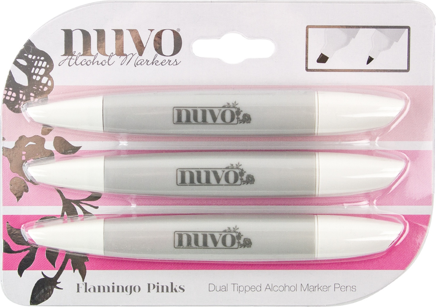 Nuvo Flamingo Pinks Alcohol Mar