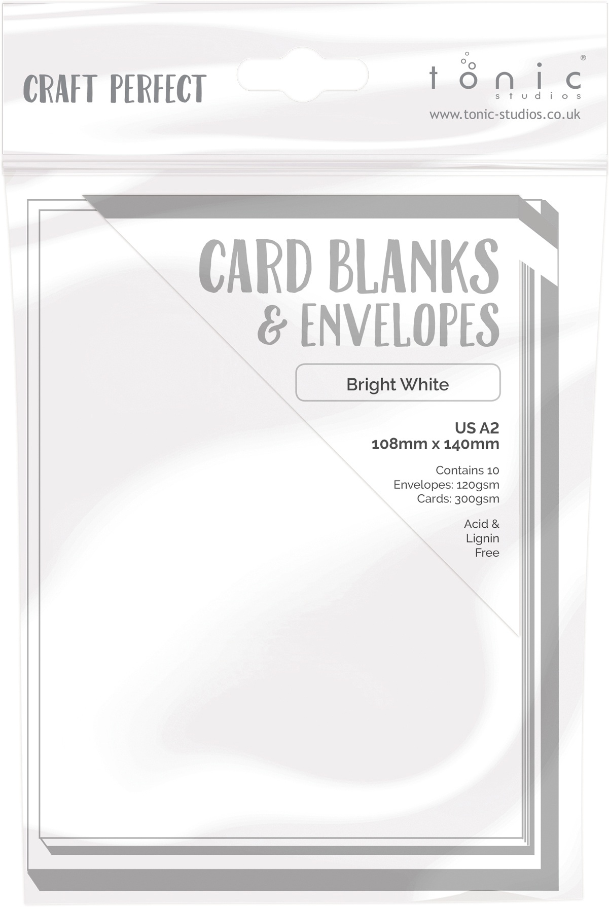 Craft Perfect Card Blanks US A2-Bright White