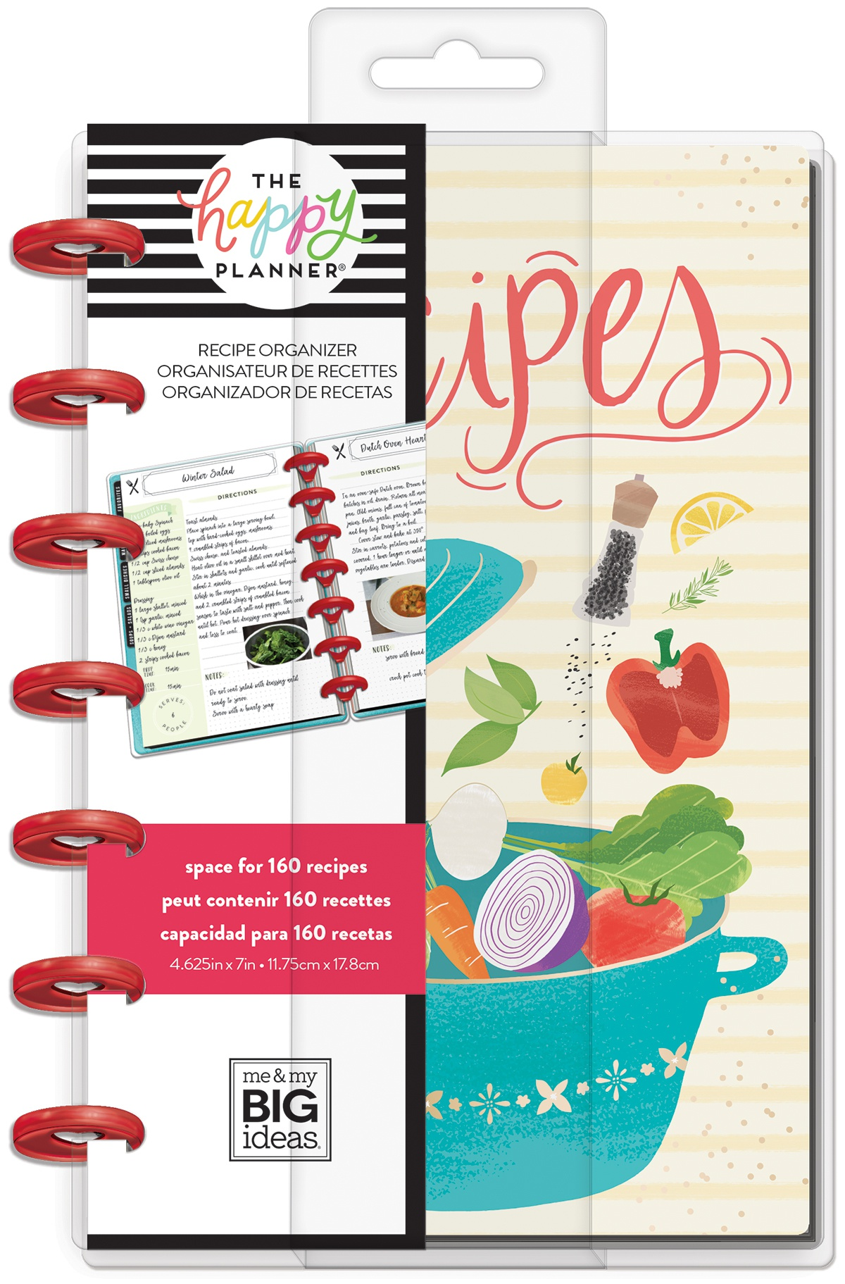 Happy Planner Mini Undated Planner -Recipe