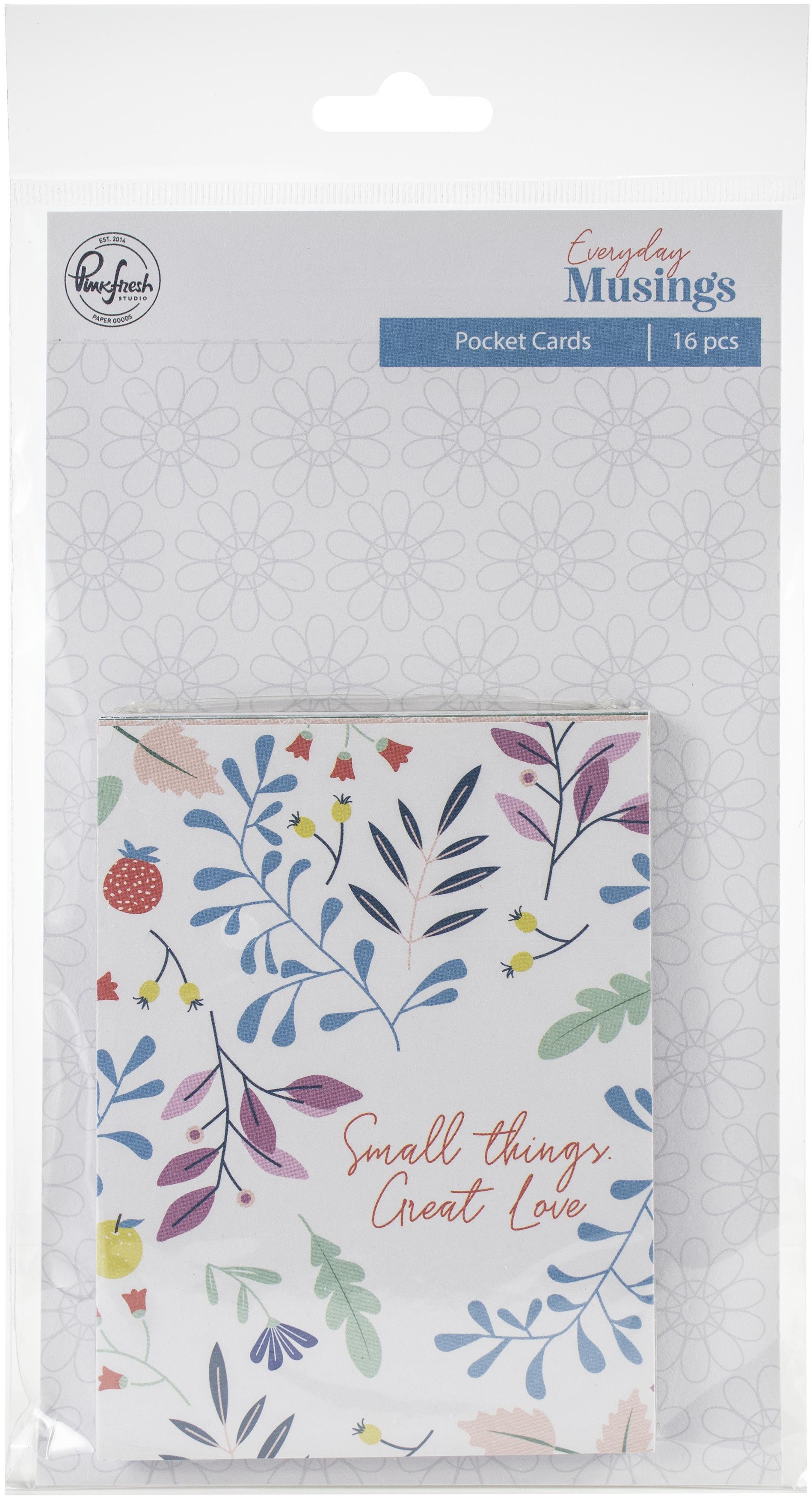 Everyday Musings Pocket Cards Set 16/Pkg-3X4 (12) Cardstock & (4) Acetate