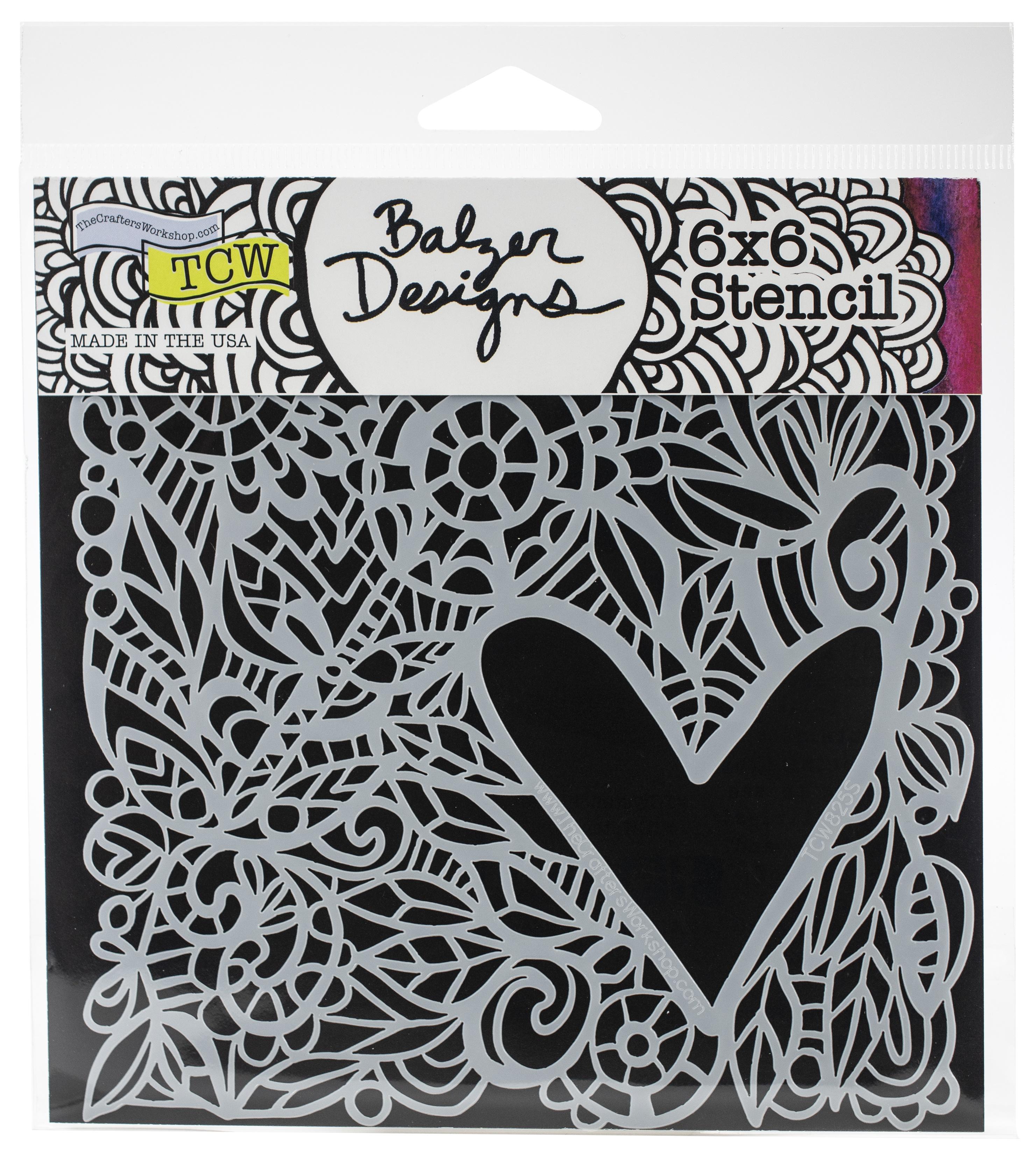 Love Frame 6x6 Stencil