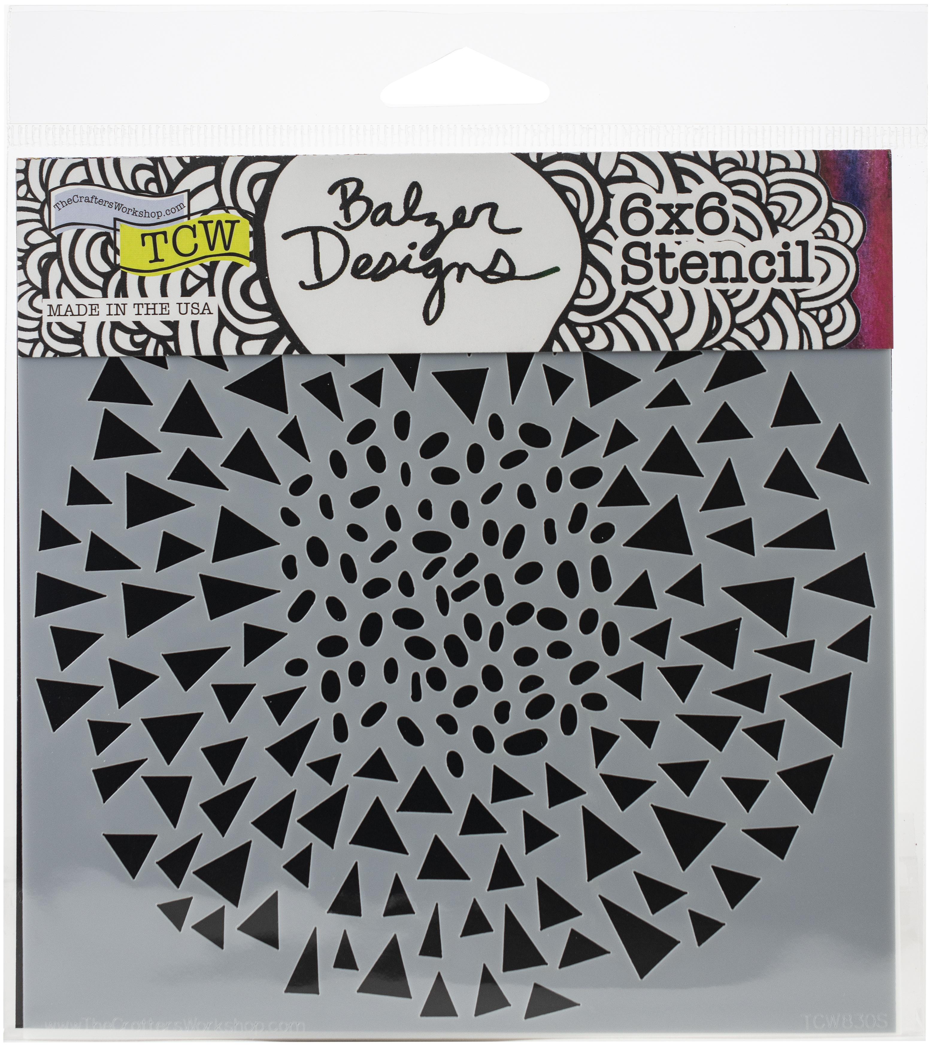 Dash Triangle 6x6 Stencil