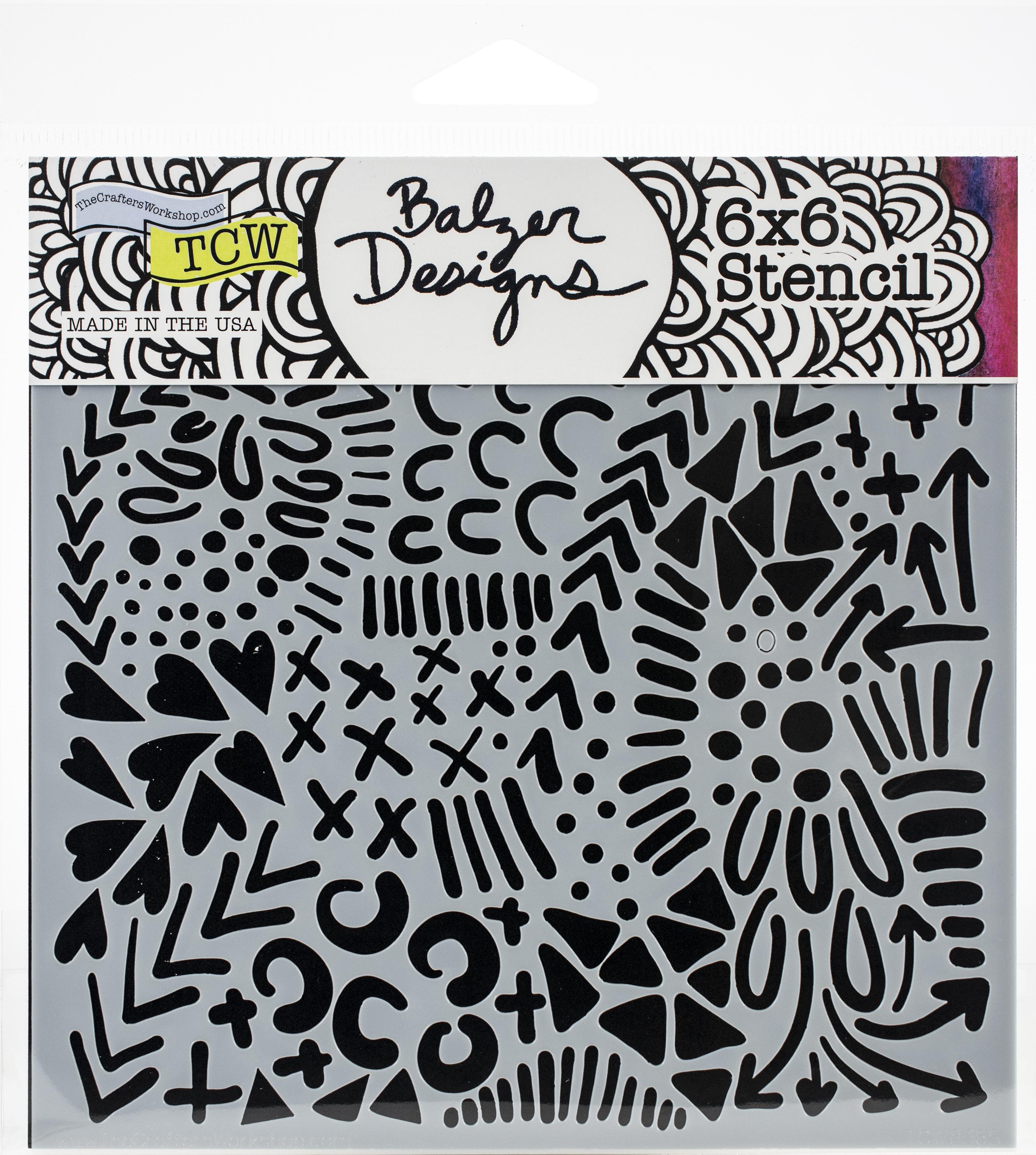 Texture Love 6x6 Stencil