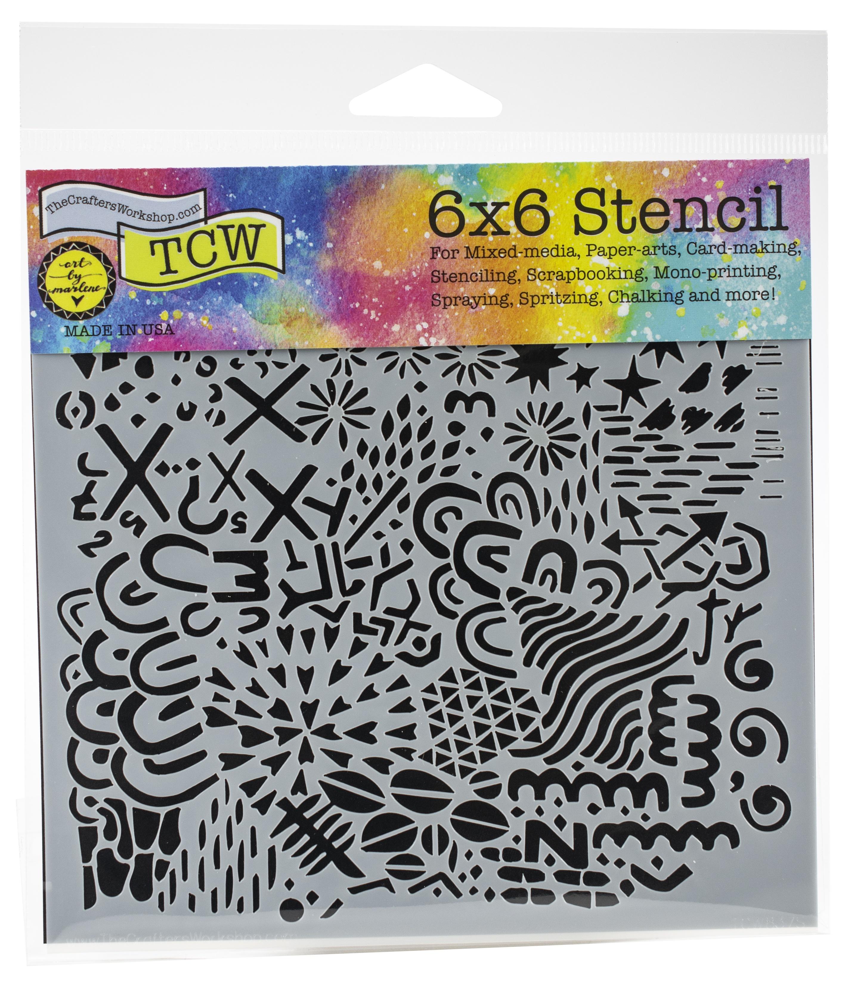 Texture Plate 6x6 Stencil