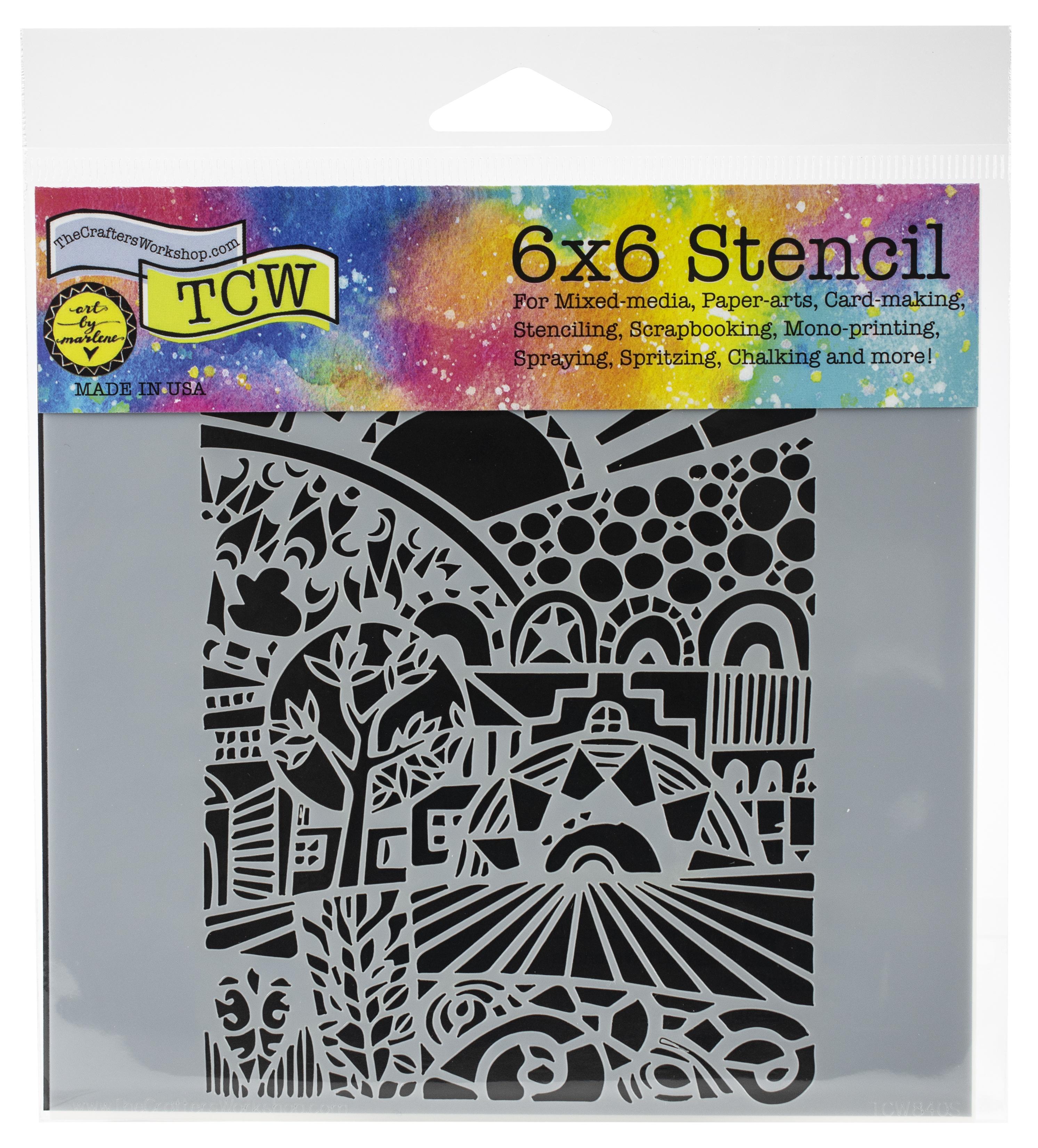 Sun Valley 6x6 Stencil