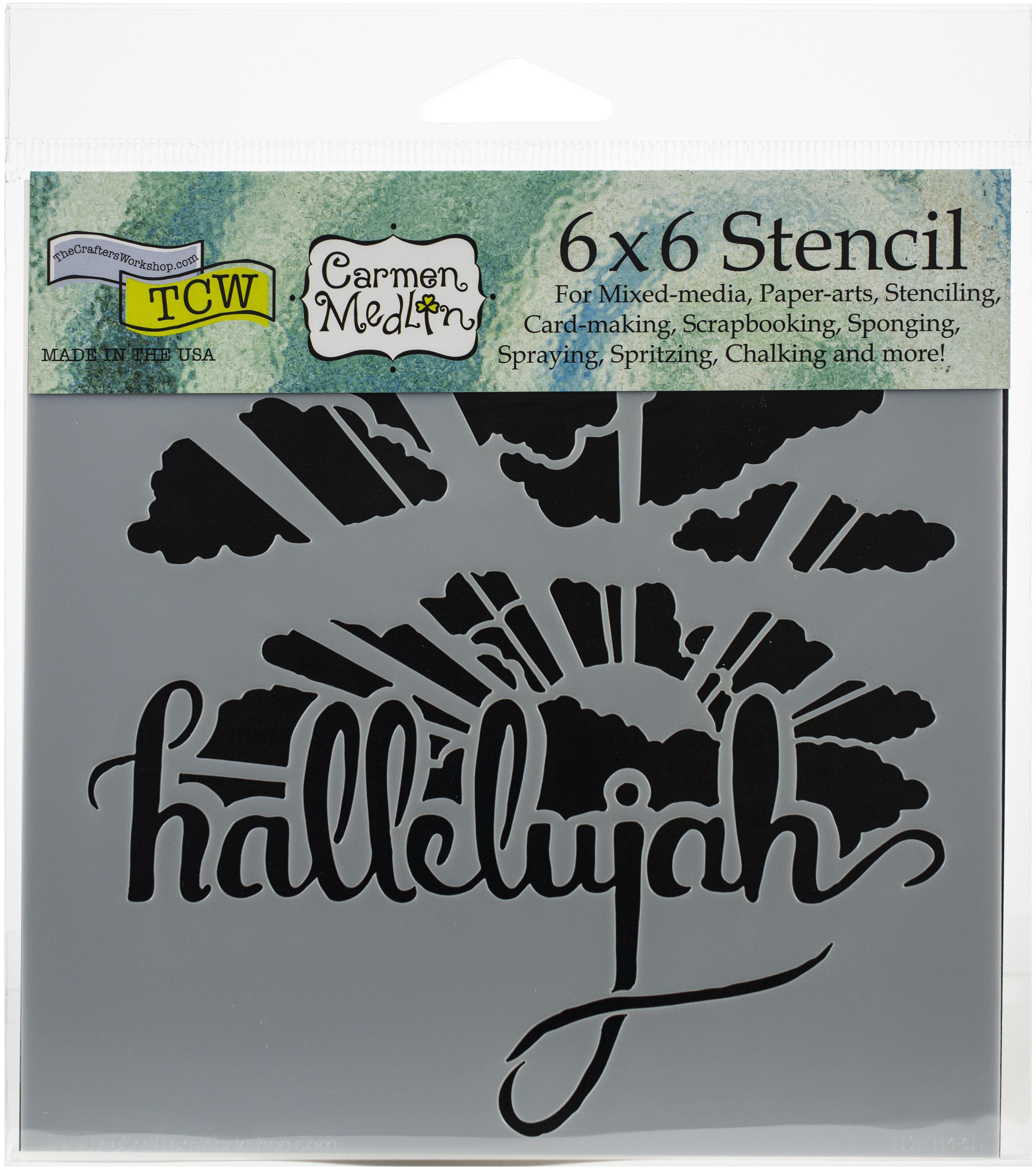 Hallelujah 6x6 Stencil