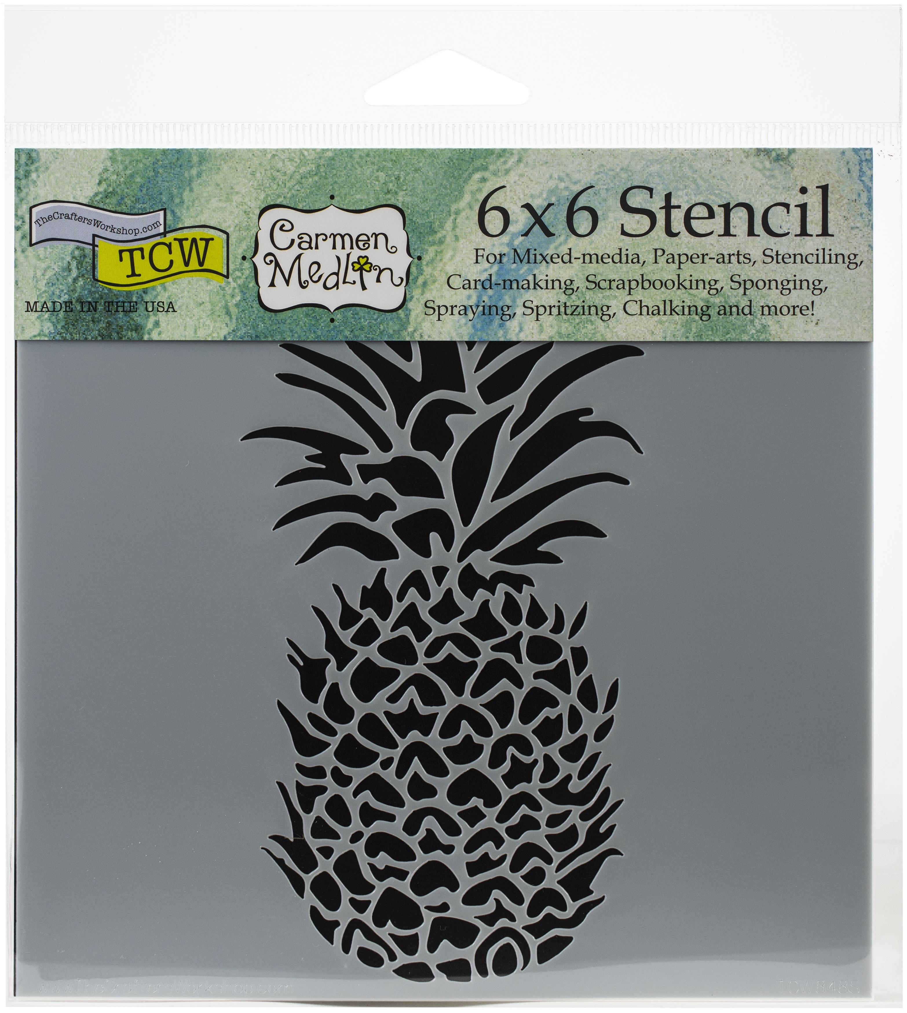 Pineapple 6x6 Stencil