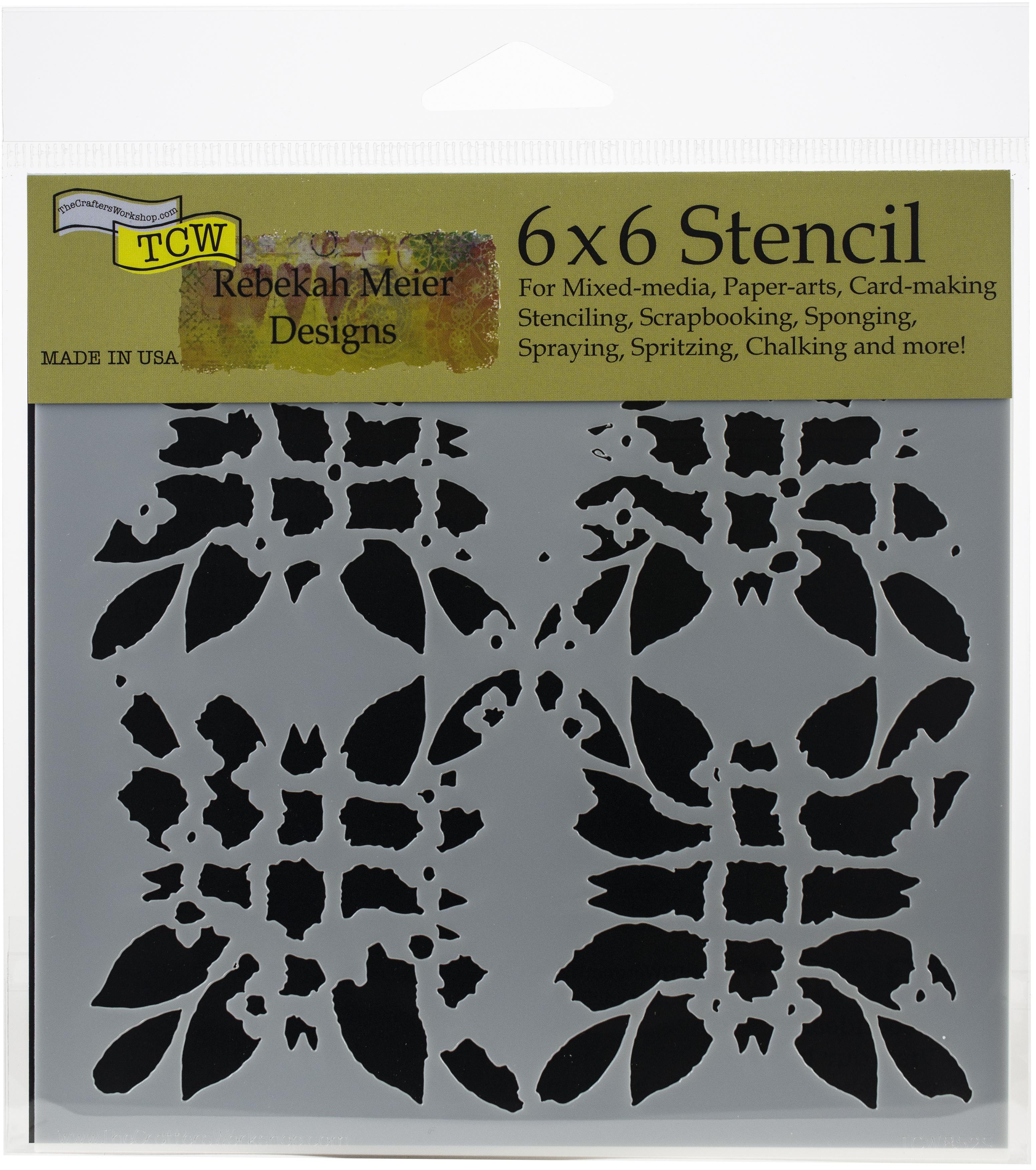 Ink Print 6x6 Stencil