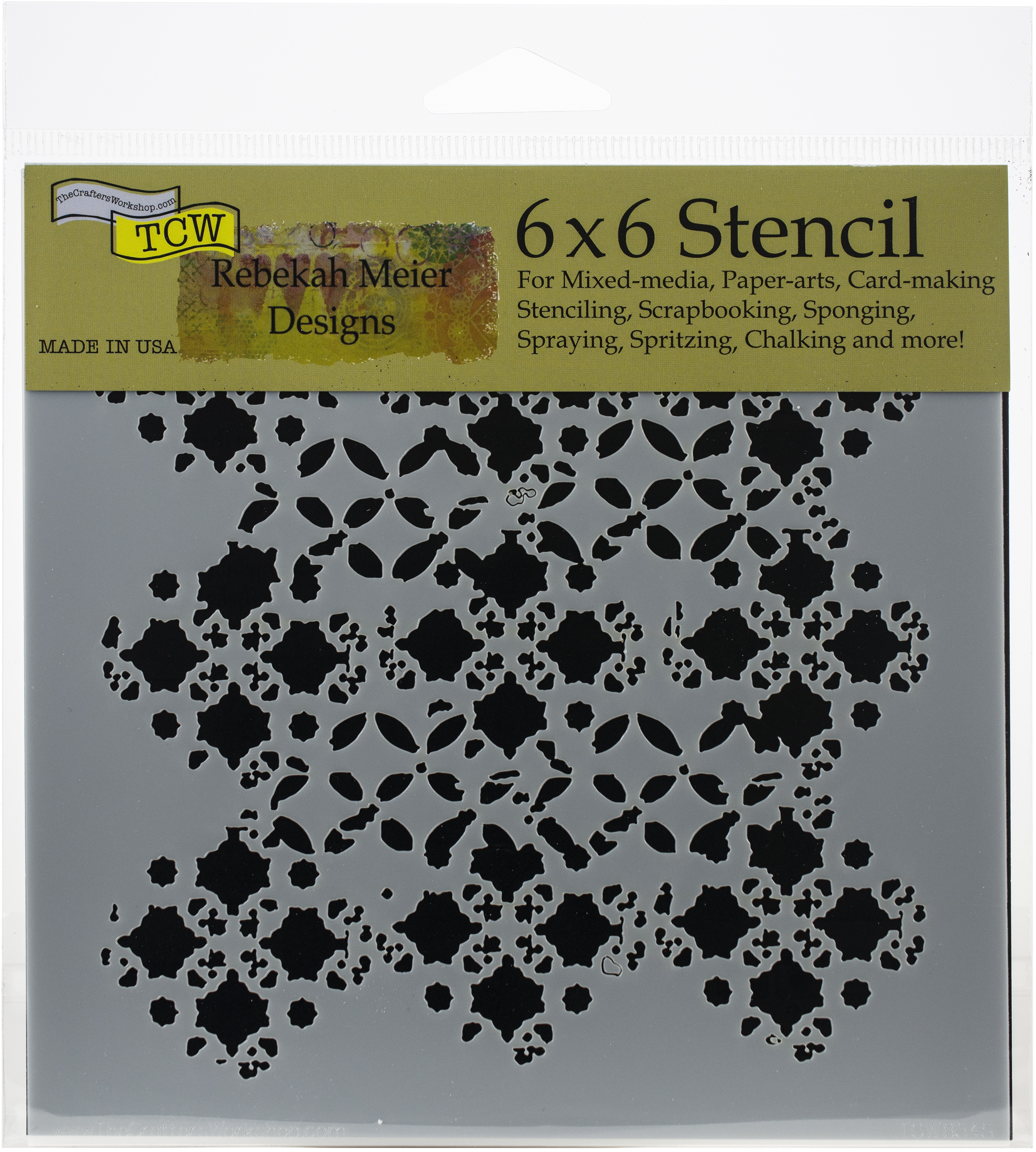 Layered Wallpaper 6x6 Stencil