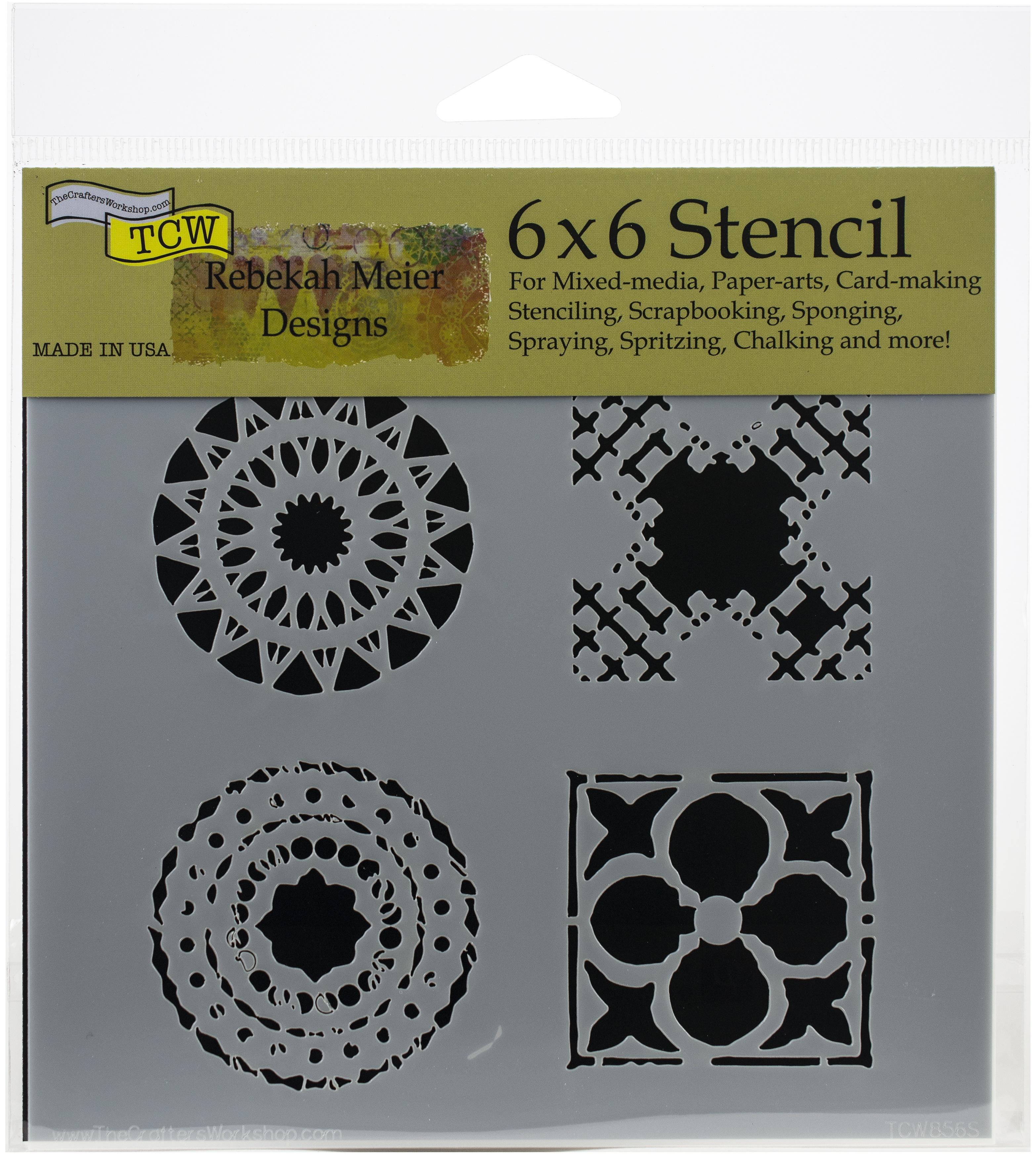 Quattro Motifs 6x6 Stencil