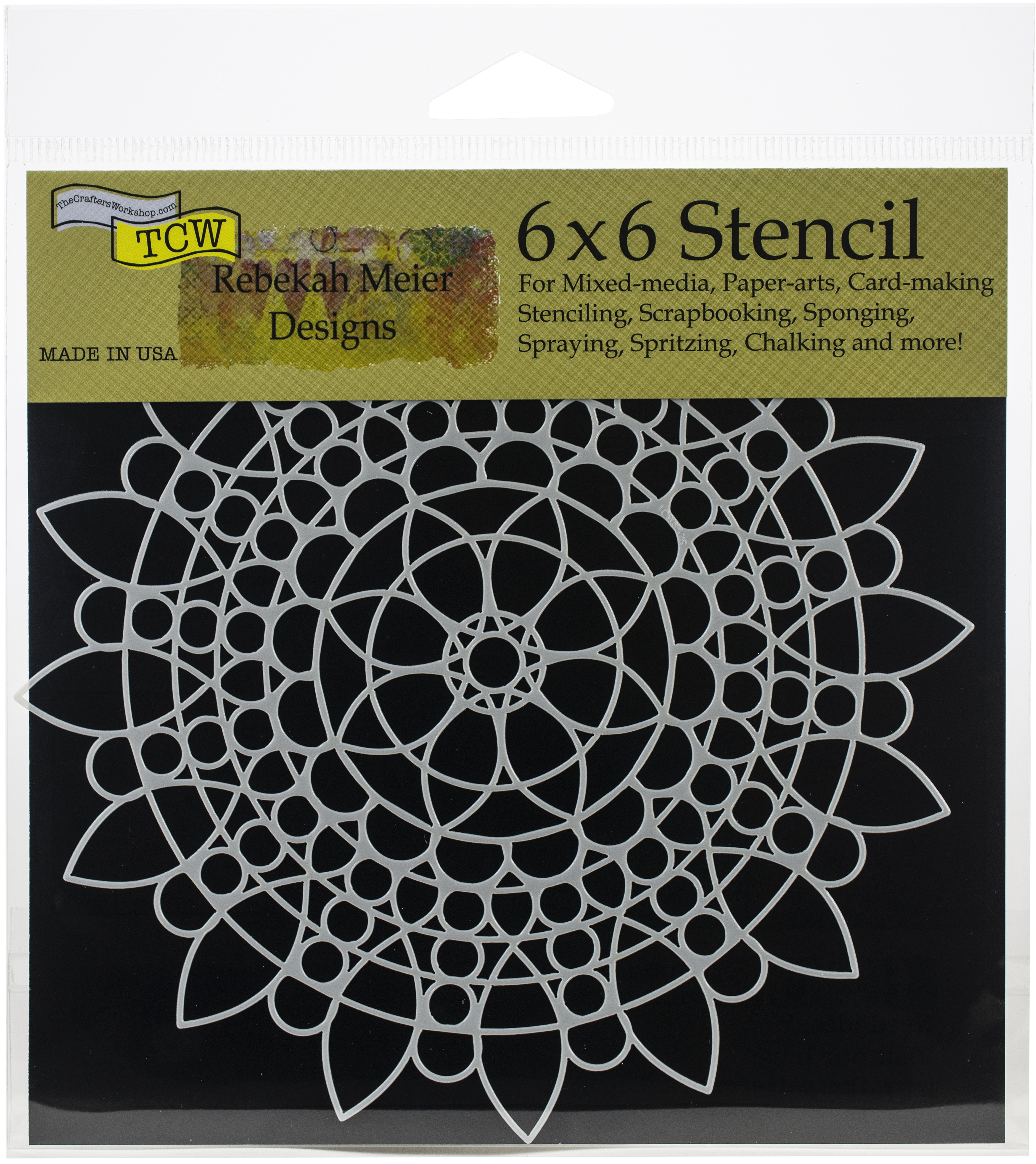 Sunflower Mandala 6x6 Stencil