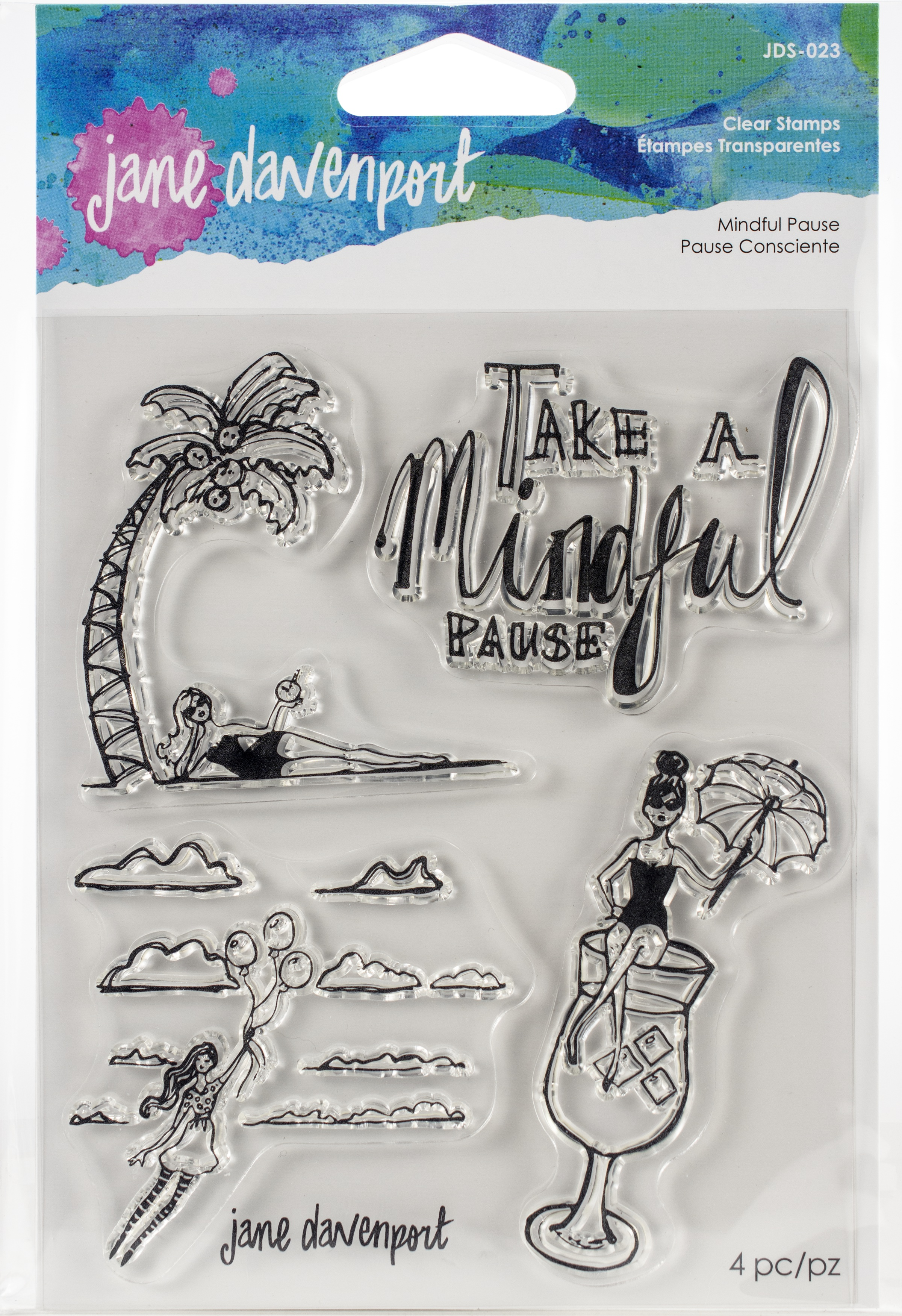Jane Davenport Artomology Clear Stamps-Mindful Pause