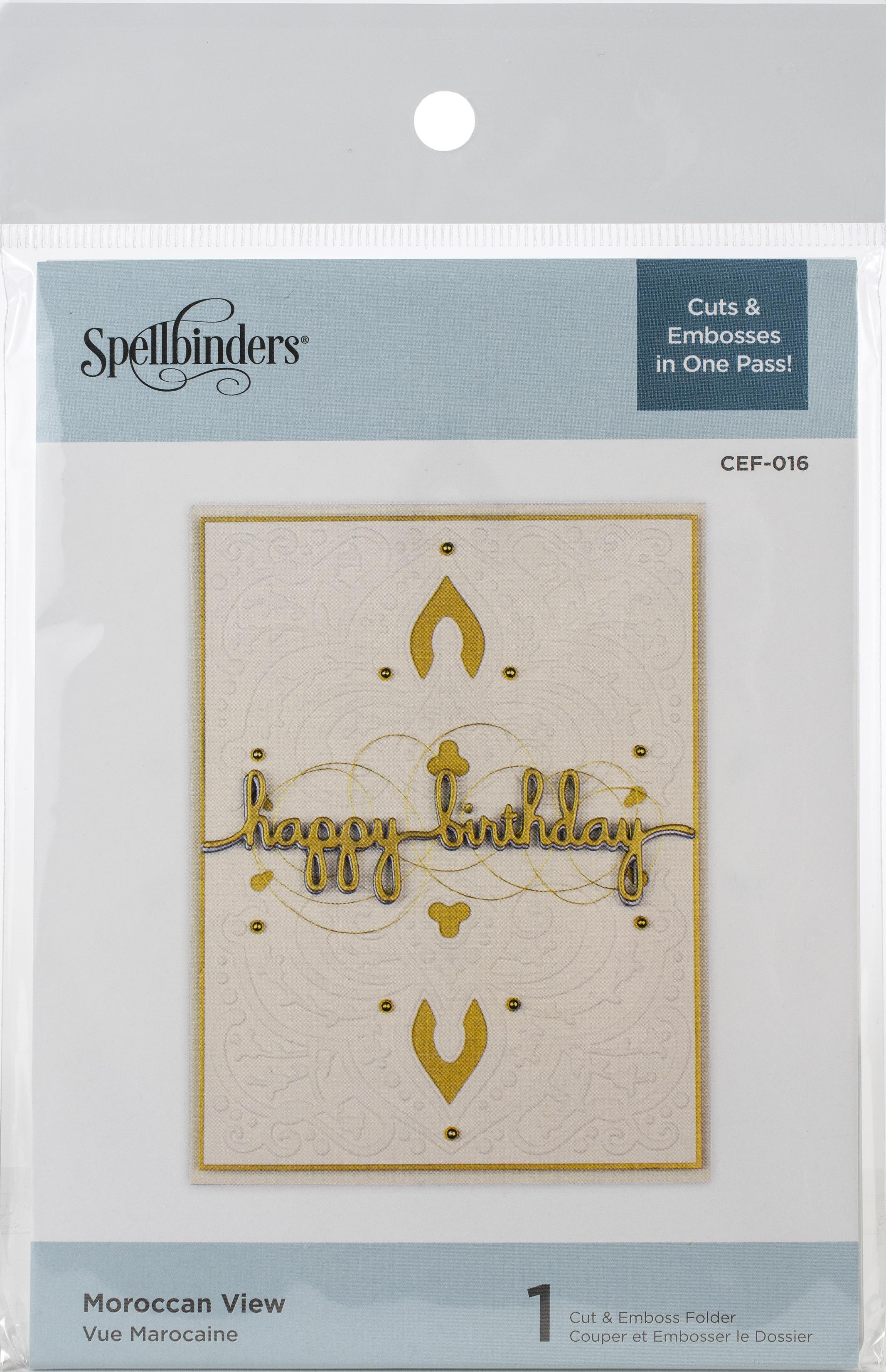 spellbinder cut n emboss happy  birthday folder