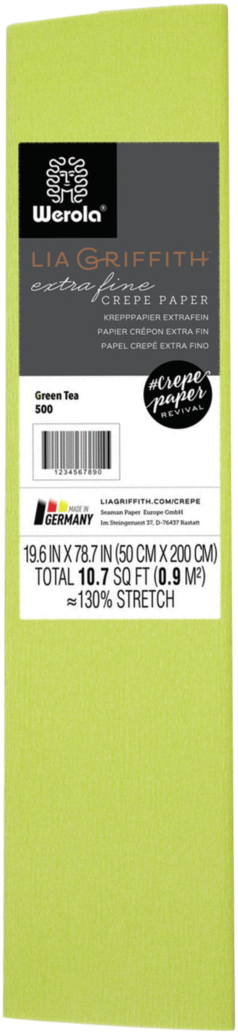 Extra Fine Crepe Paper 19.6X78.7-Green Tea