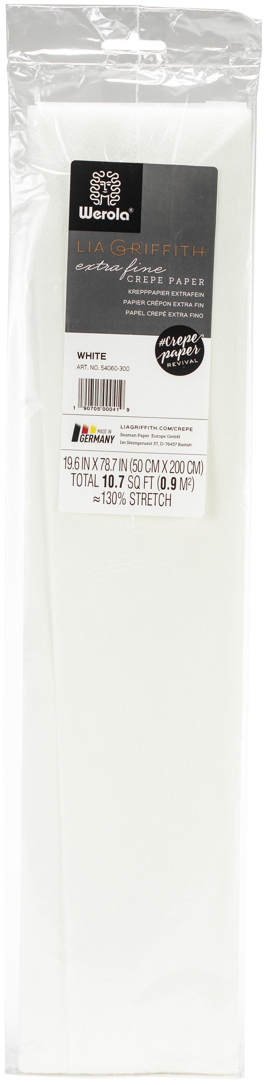 Extra Fine Crepe Paper 19.6X78.7-White
