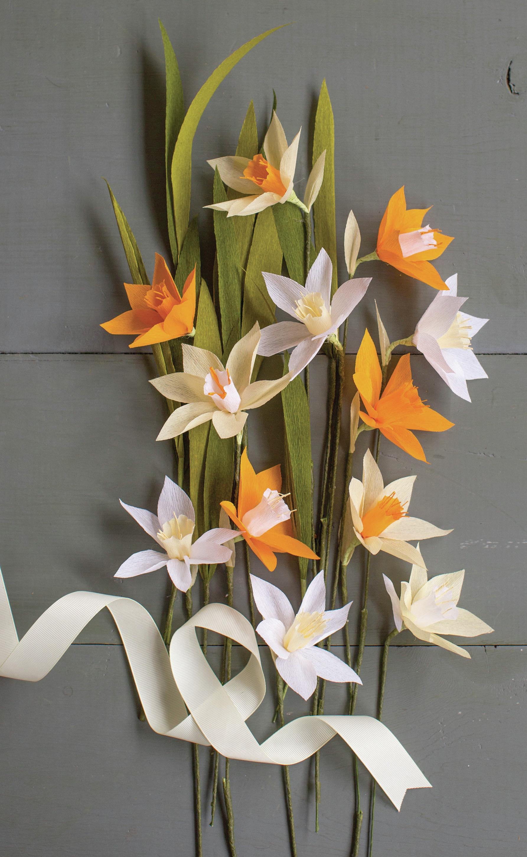 Crepe Paper Flower Kit -Daffodil