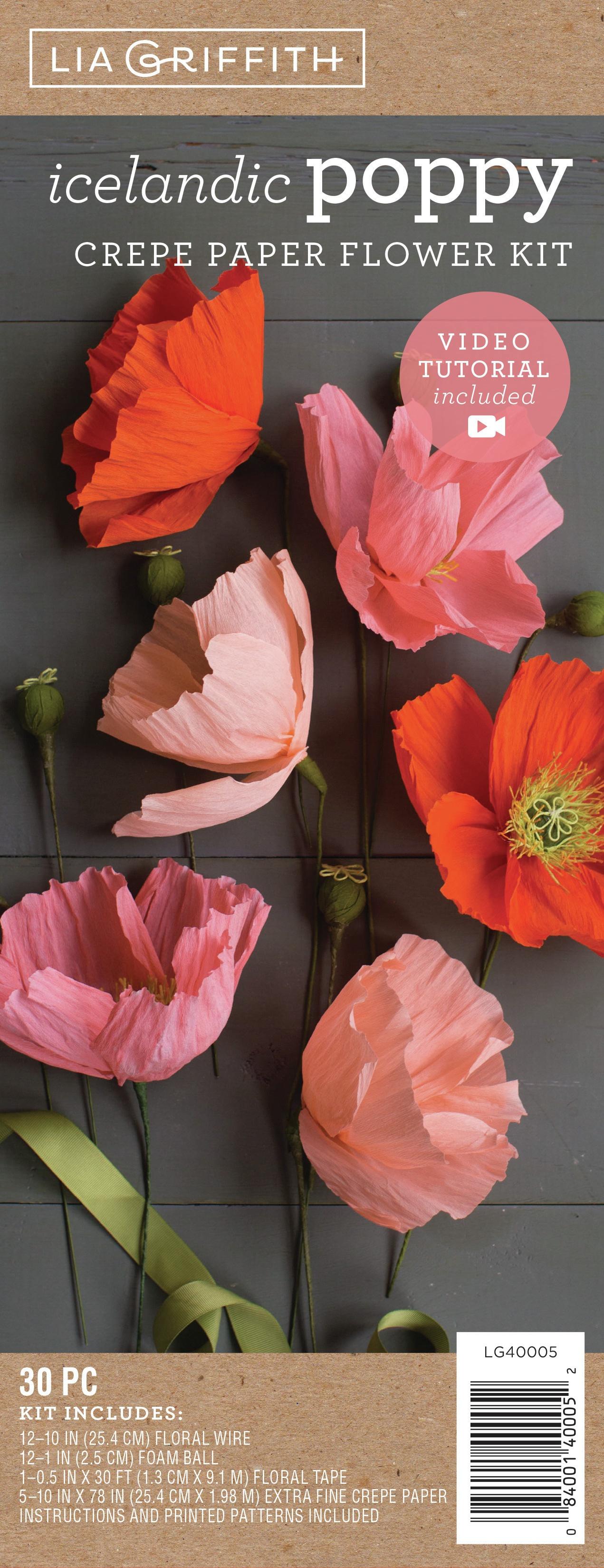 Crepe Paper Flower Kit -Poppies