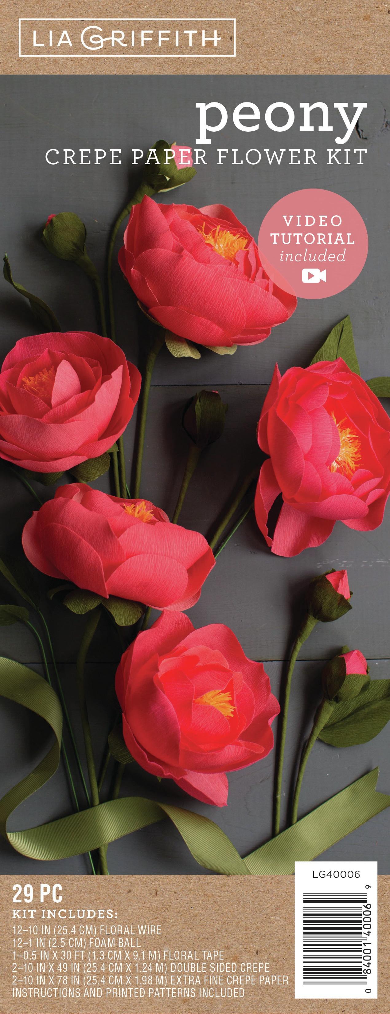 Crepe Paper Flower Kit -Peonies