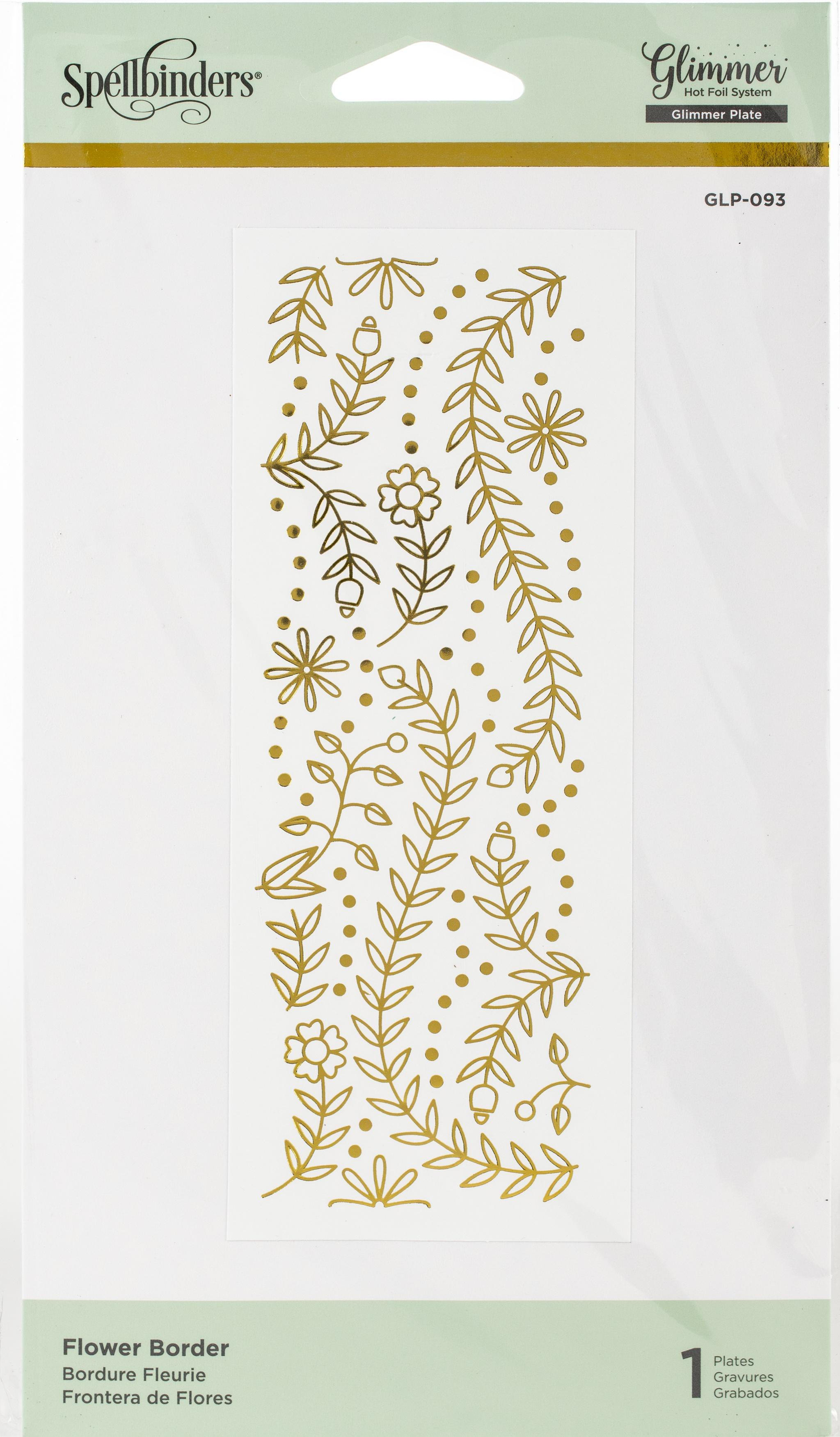 flower border glimmer plate
