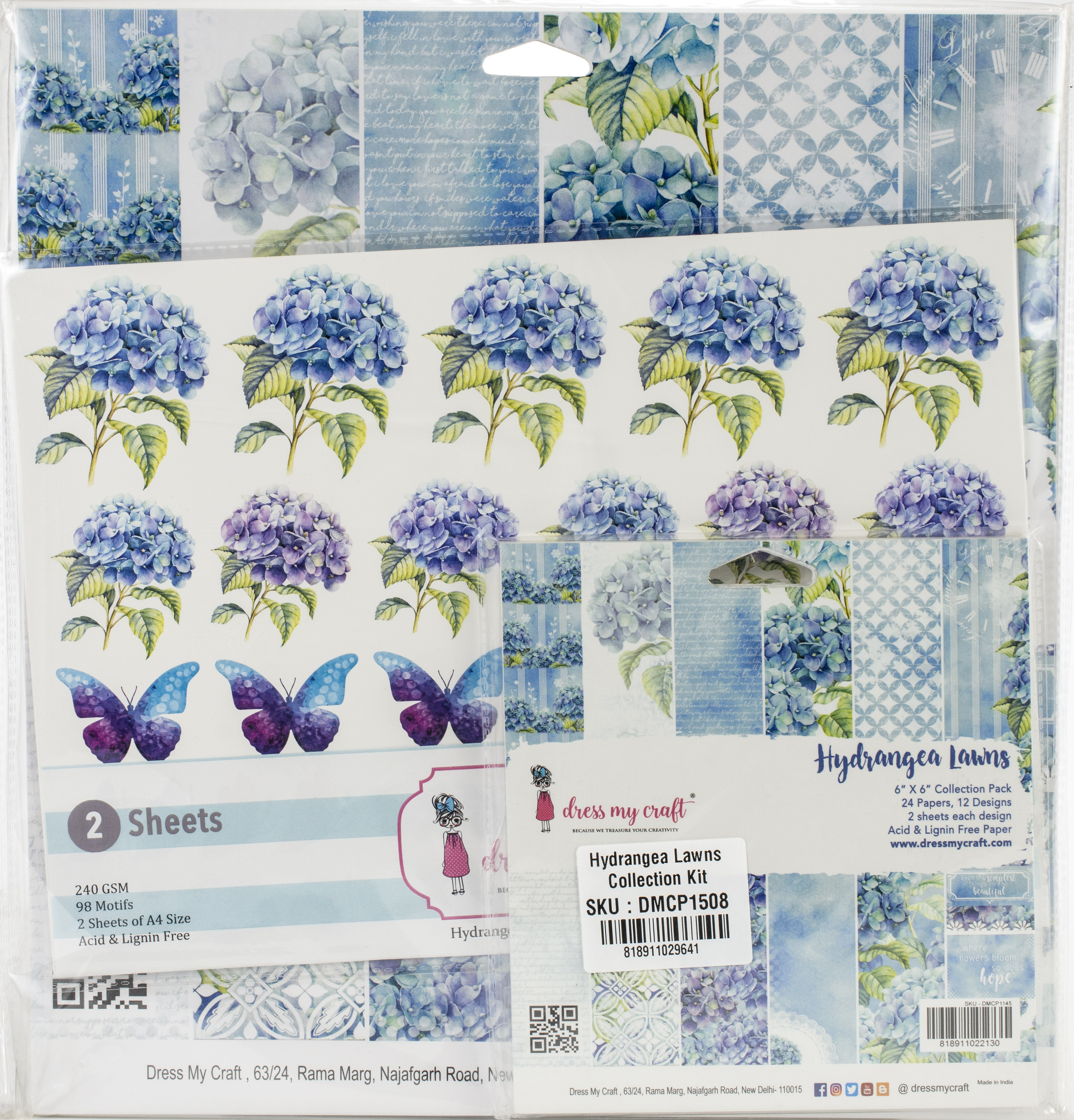 Dress My Craft Collection Kit - Hydrangea Lawns