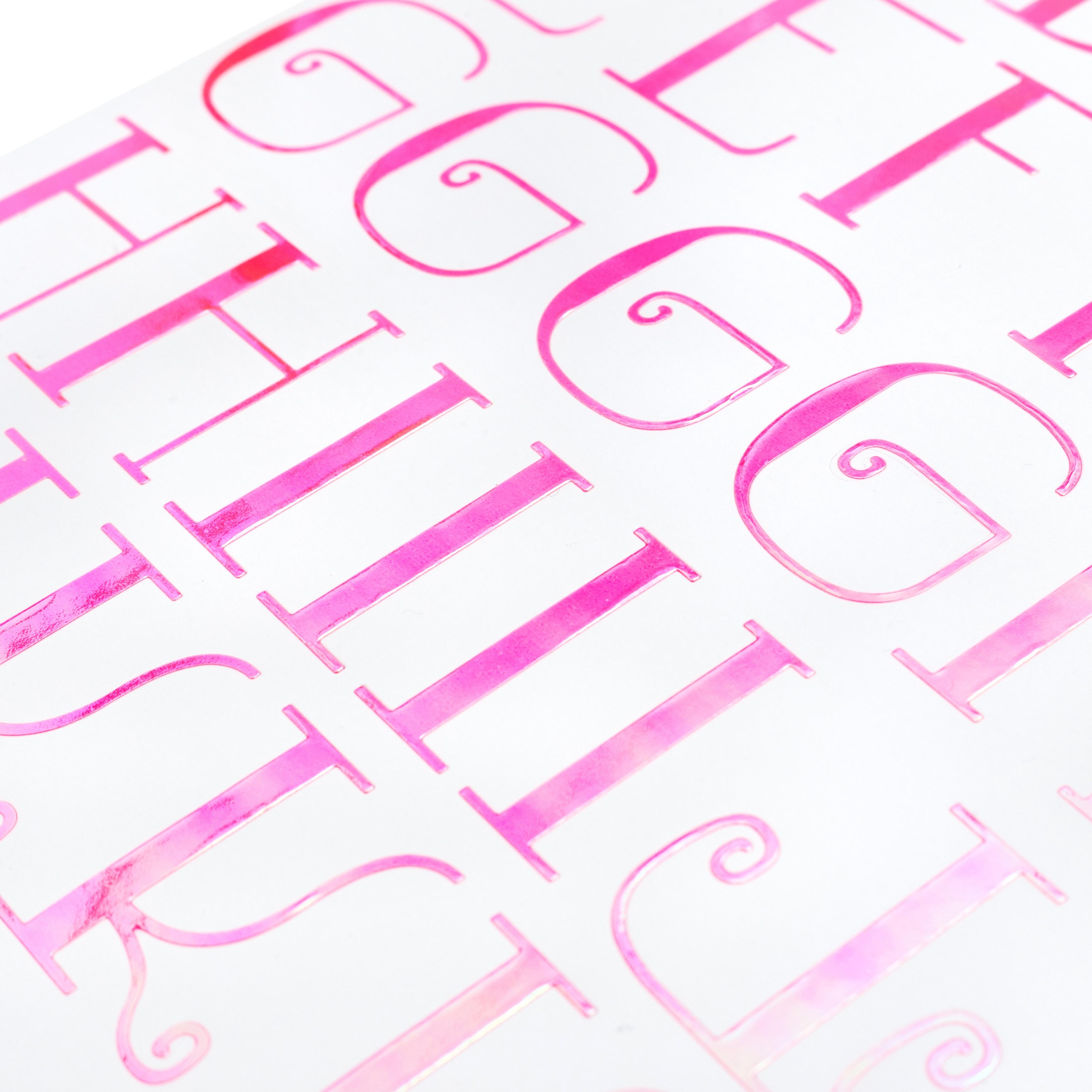 Sticko Iridescent Large Alphabet Stickers-Pink Nostalgic