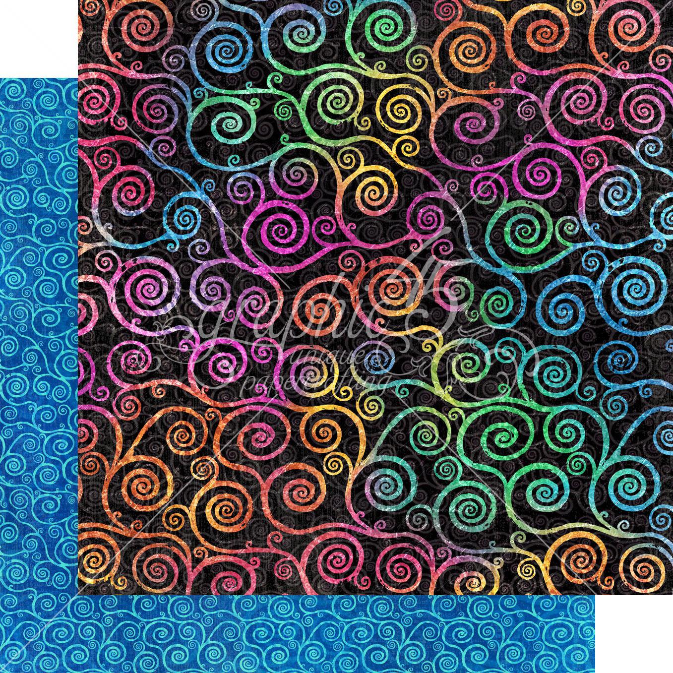 Kaleidoscope Double-Sided Cardstock 12X12-Boldly Brilliant