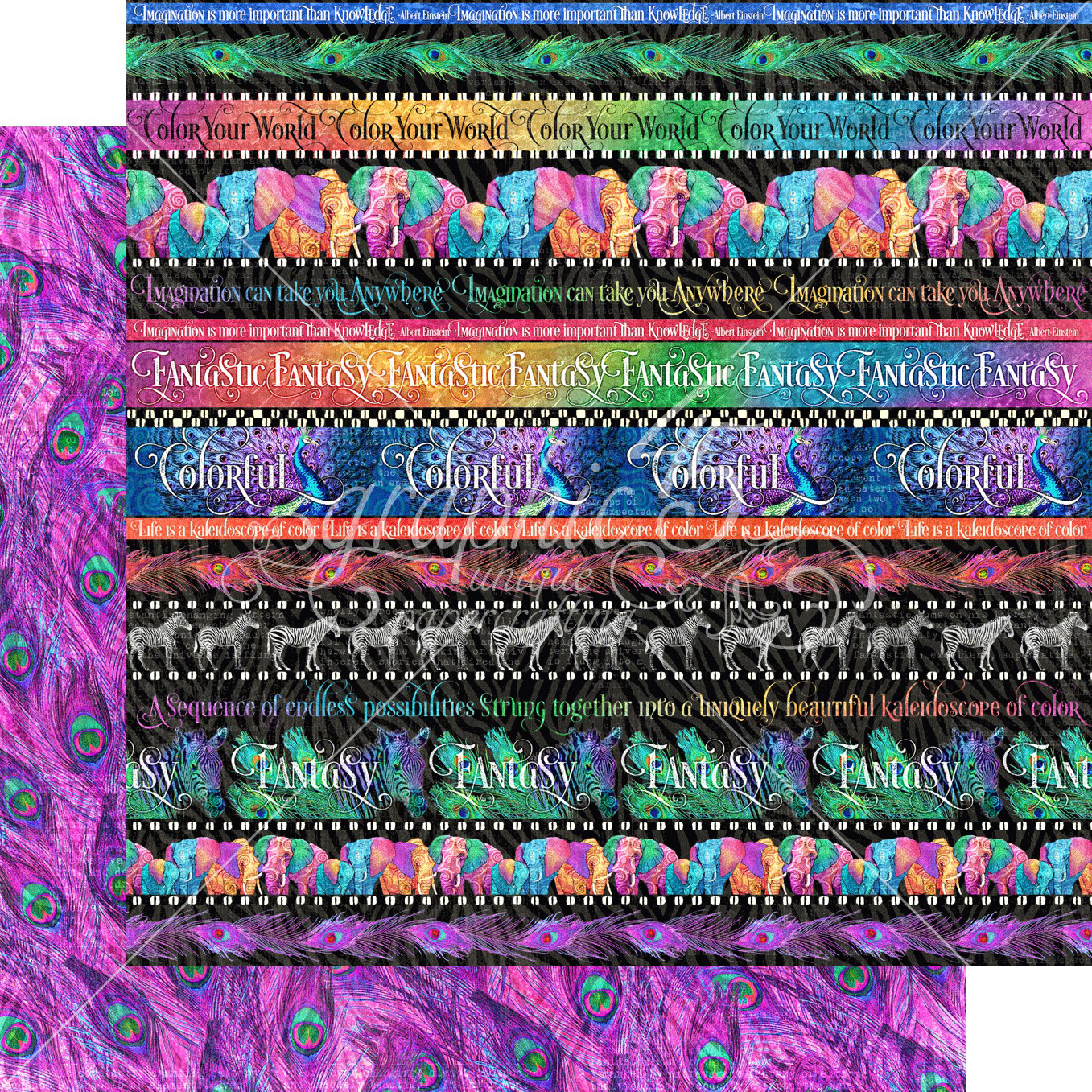 Kaleidoscope Double-Sided Cardstock 12X12-Rainbow Of Color