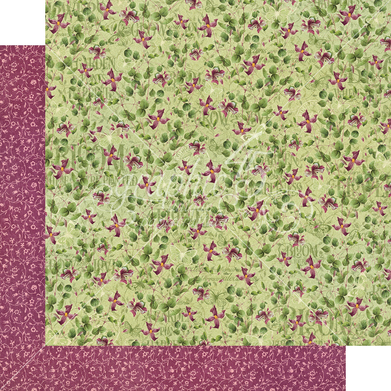 Bloom Double-Sided Cardstock 12X12-Dainty Blossoms
