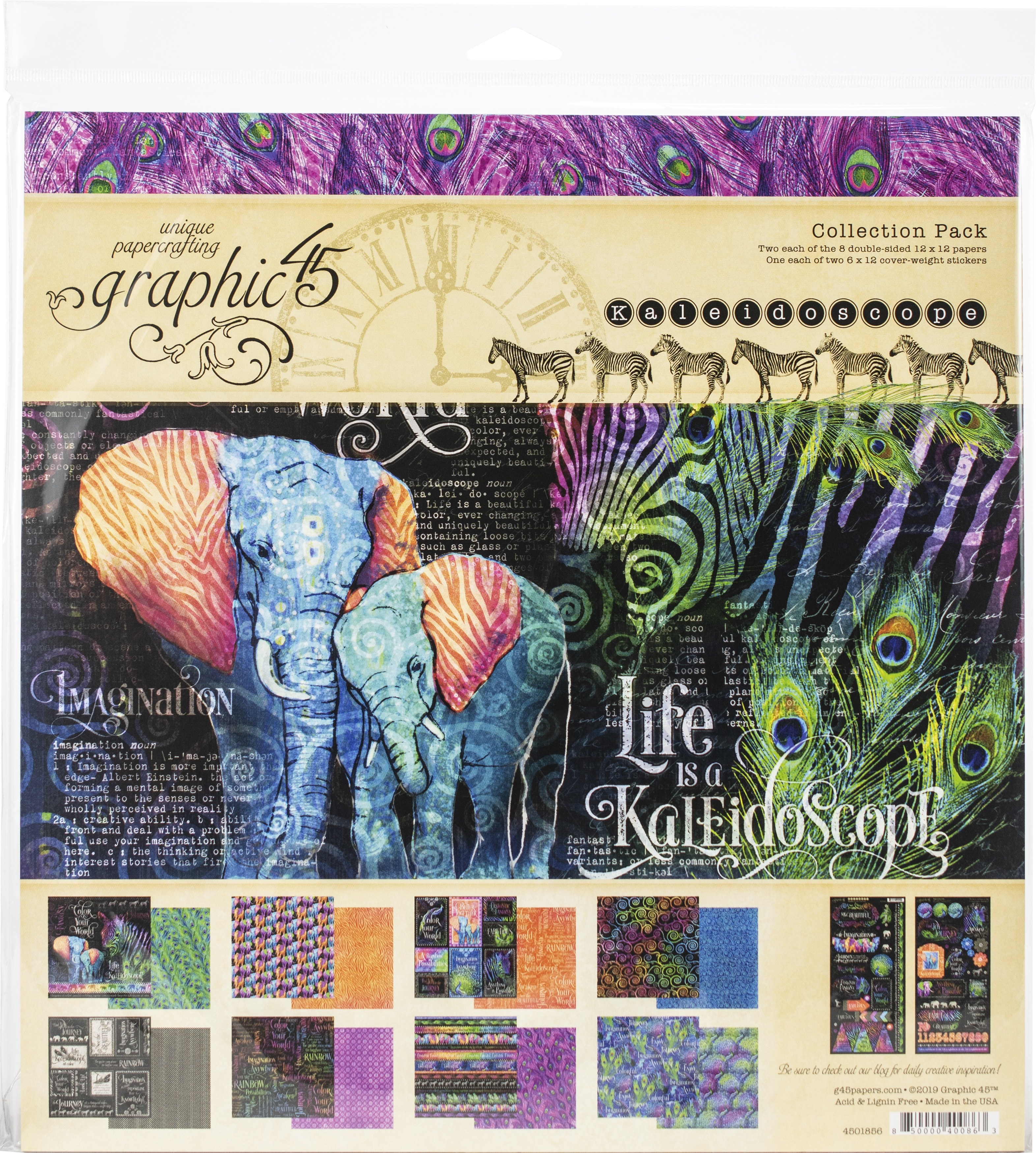 Graphic 45 Collection Pack 12X12-Kaleidoscope