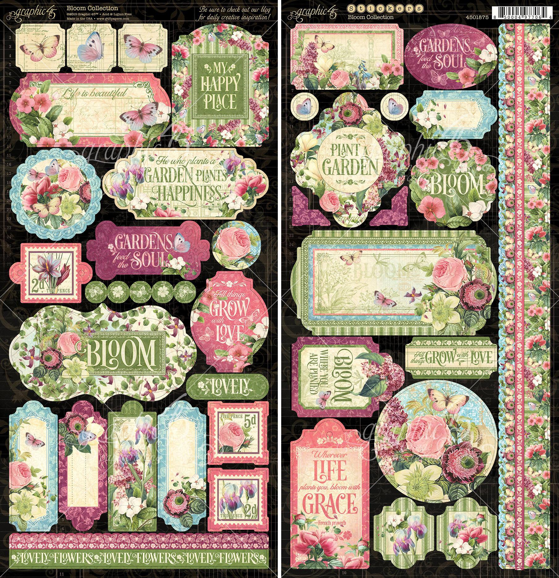 Bloom Cardstock Stickers 12X12-