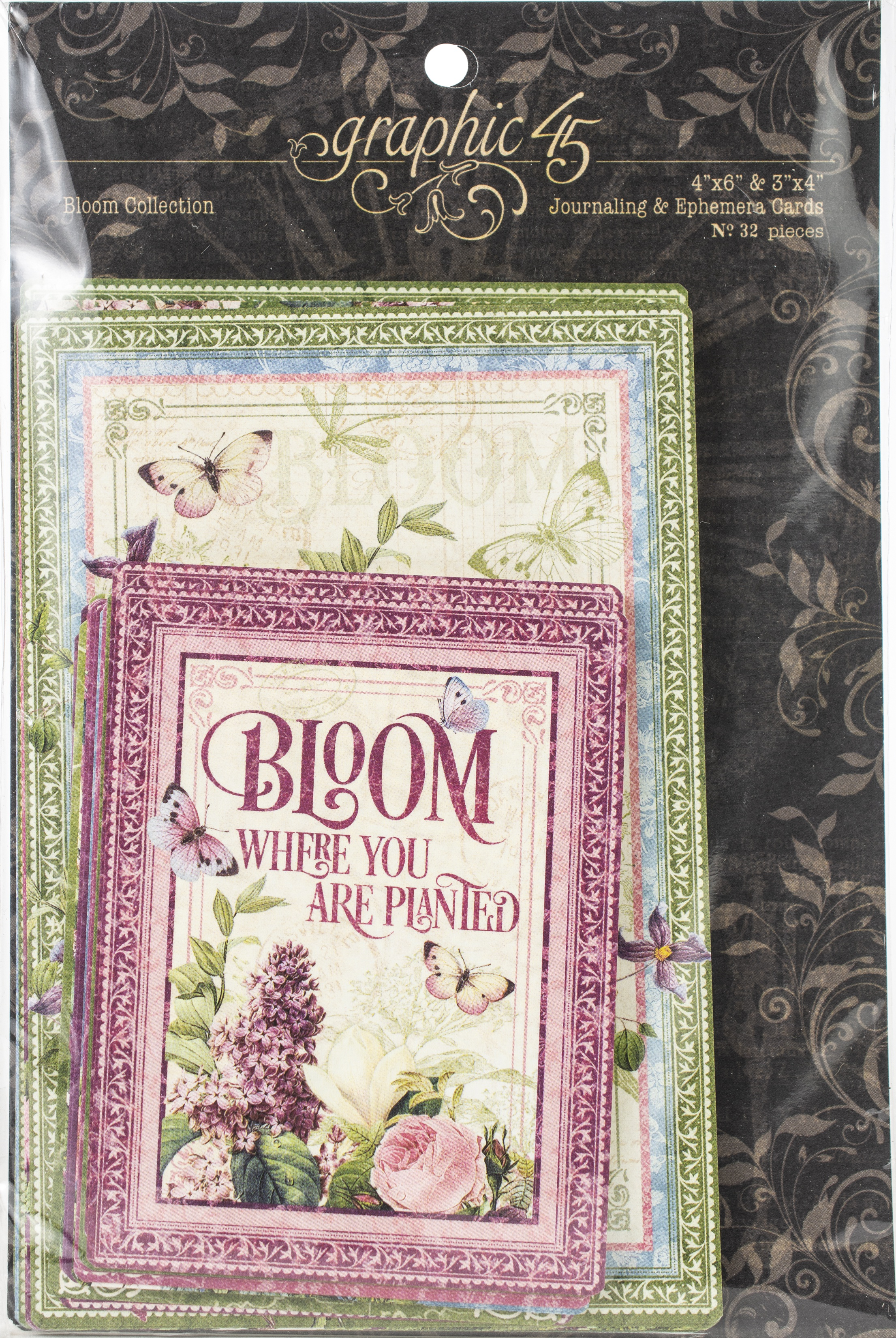 Graphic 45 - Bloom - Journalling & Ephemera Cards