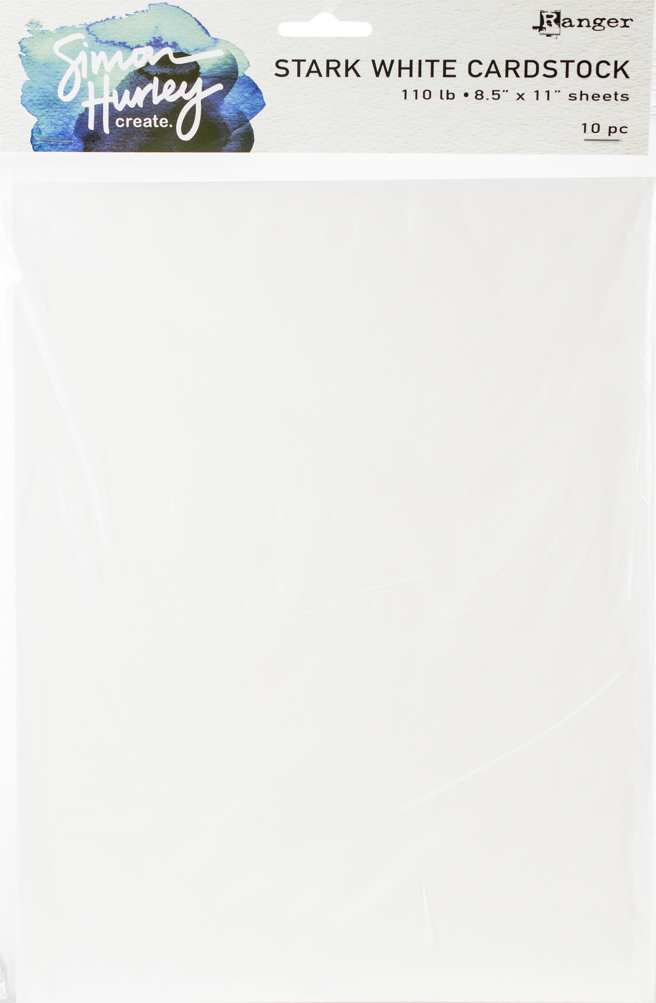 Simon Hurley create Stark White cardstock