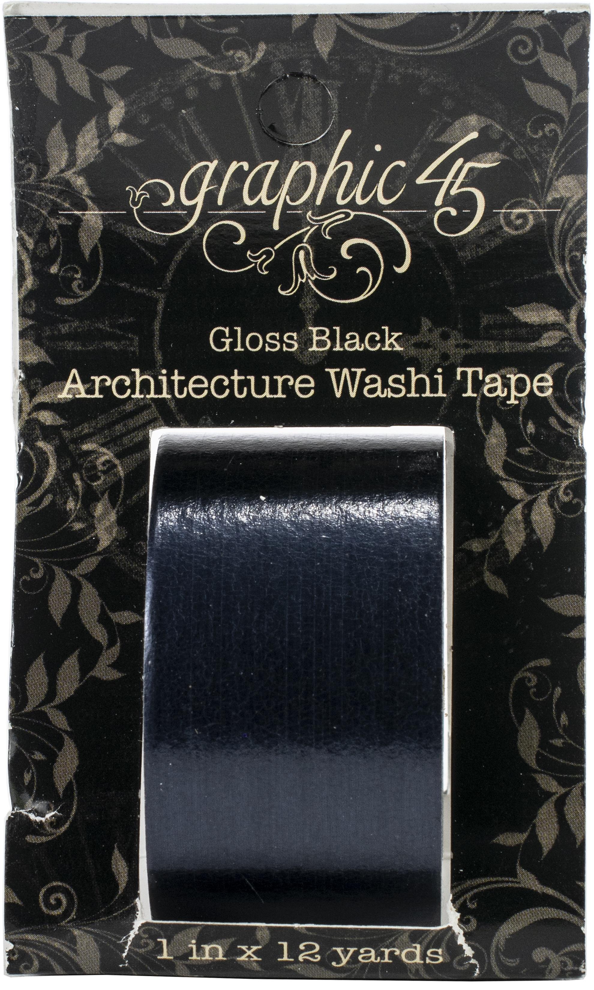 Gloss Black Washi Tape