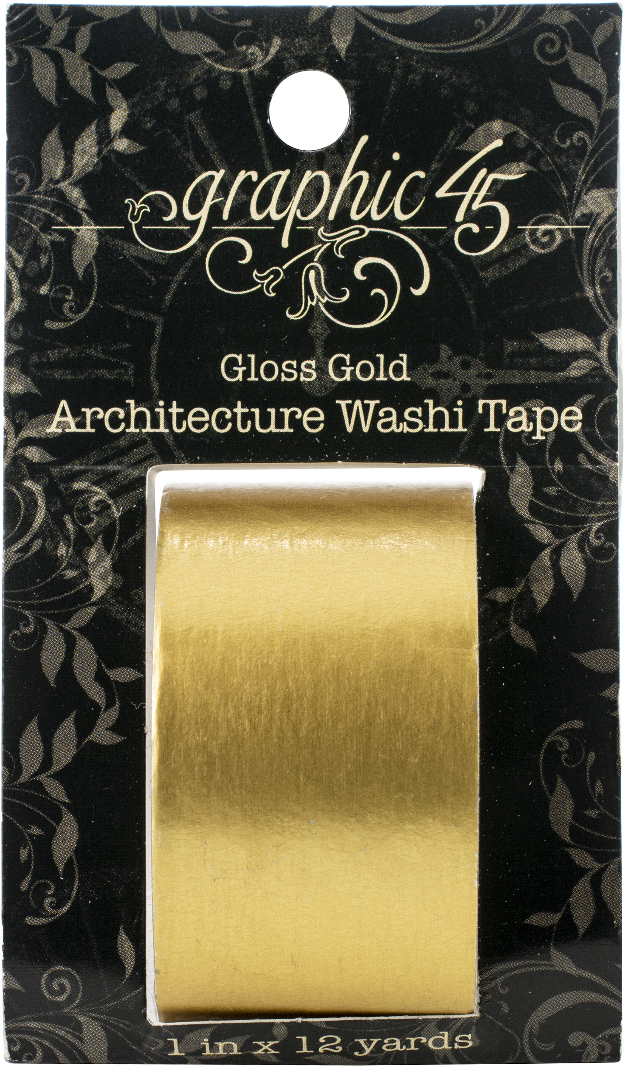 Graphic 45 Staples Architecture Washi Tape-Gloss Gold