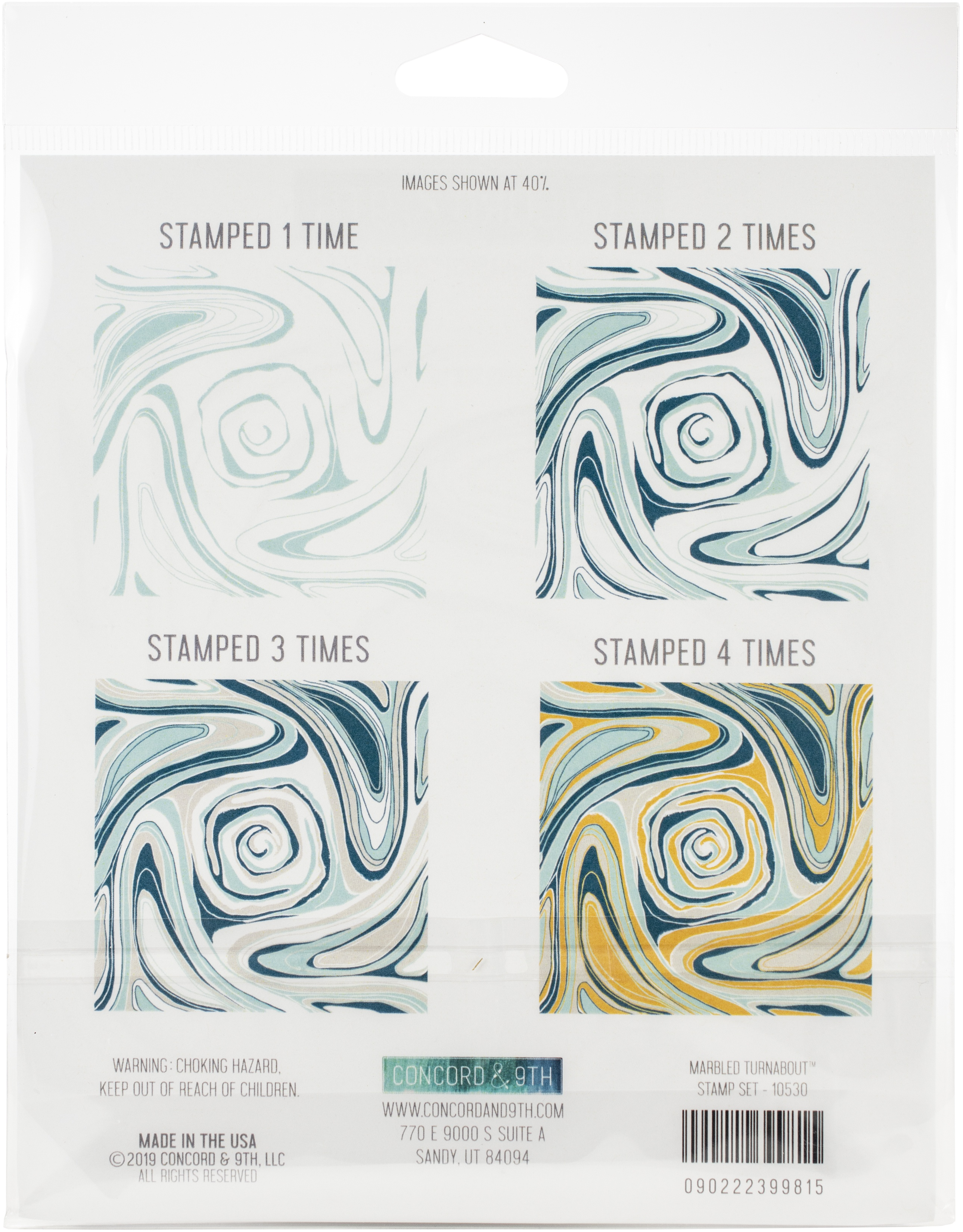 Concord and 9th - Marbled Turnabout Stamp Set