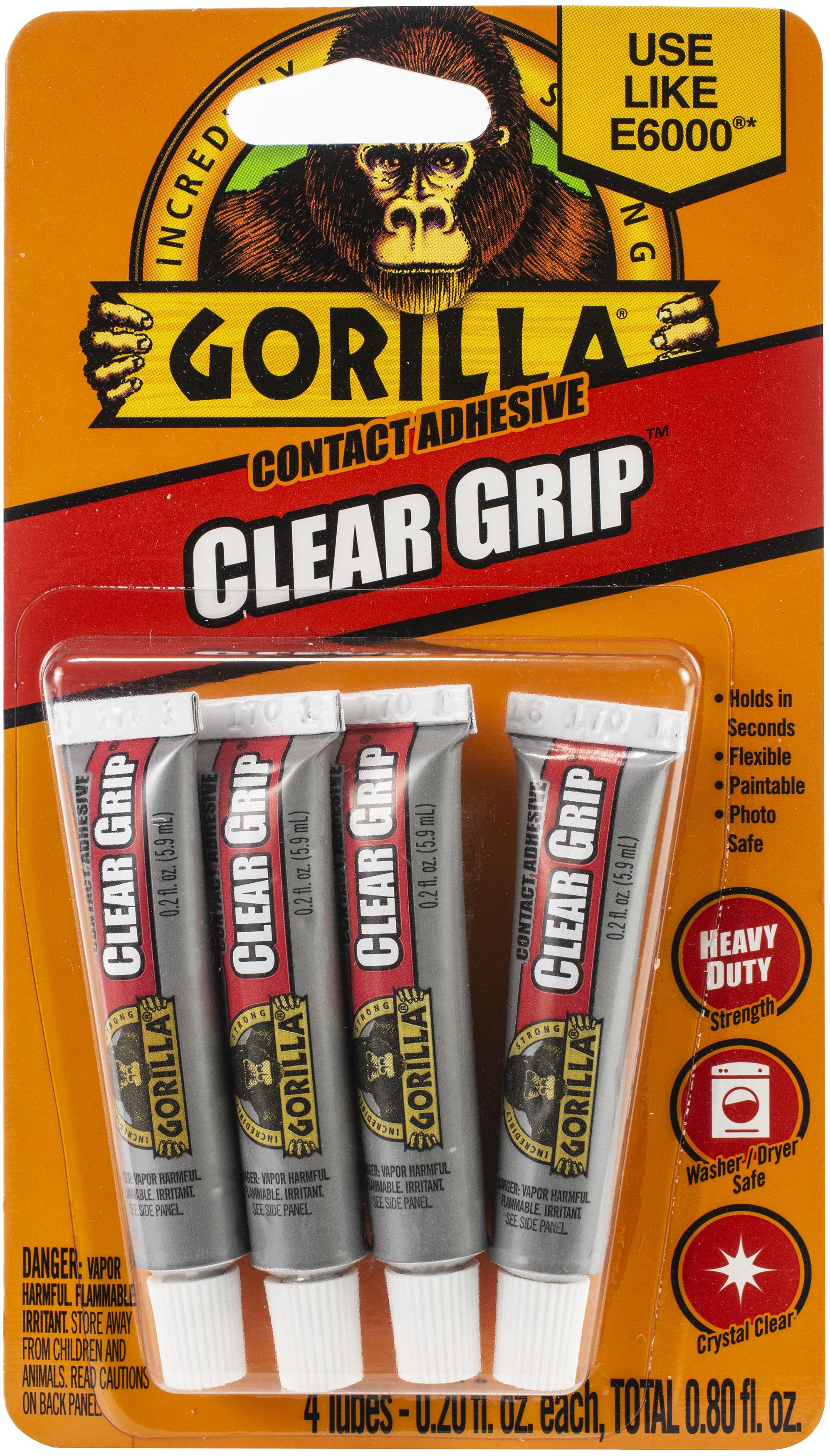 Gorilla Clear Grip Tubes 4/Pkg-.20oz