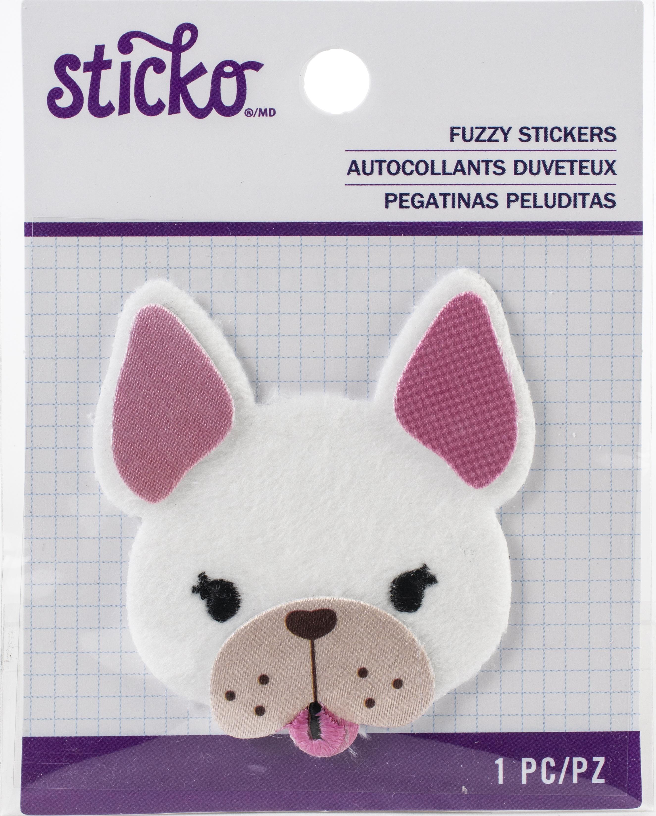 Sticko Fuzzy Stickers-Frenchie
