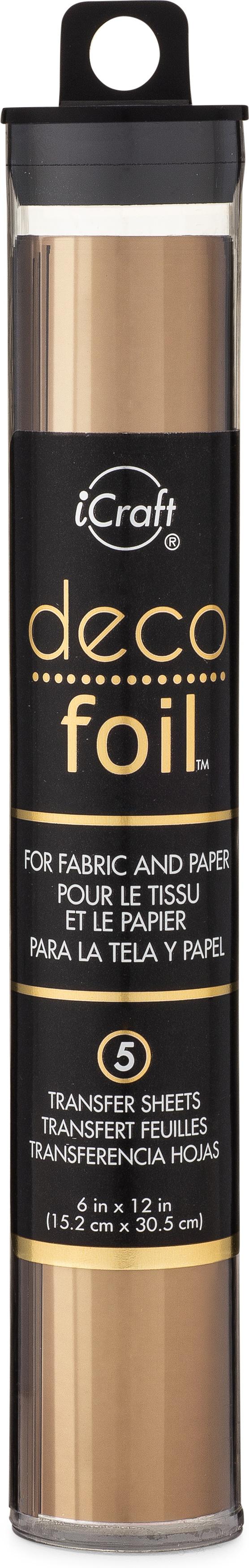 Deco Foil Transfer Sheets 6X12 5/Pkg-Bronze