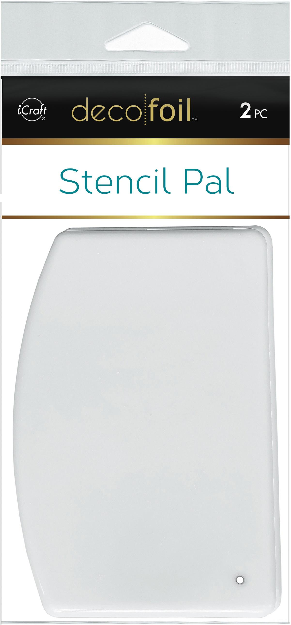 Deco Foil Stencil Pal 3.75X5.2 2/Pkg-