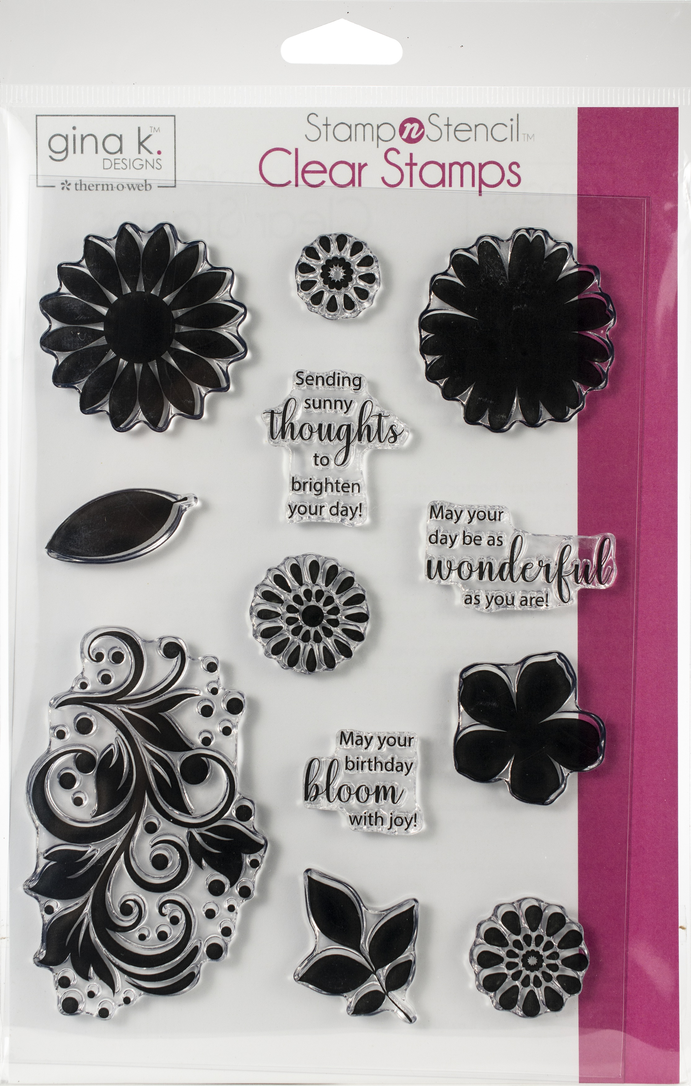 Gina K Designs Stamp Set-Crazy Daisy